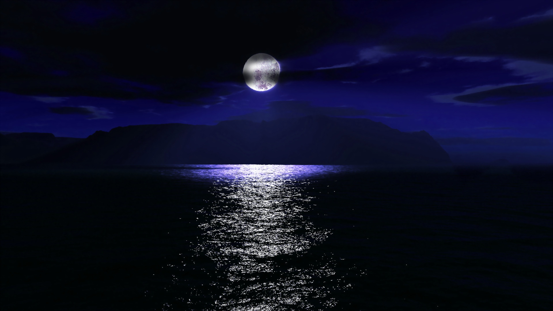 34374 download wallpaper Landscape, Sea, Night, Moon screensavers and pictures for free