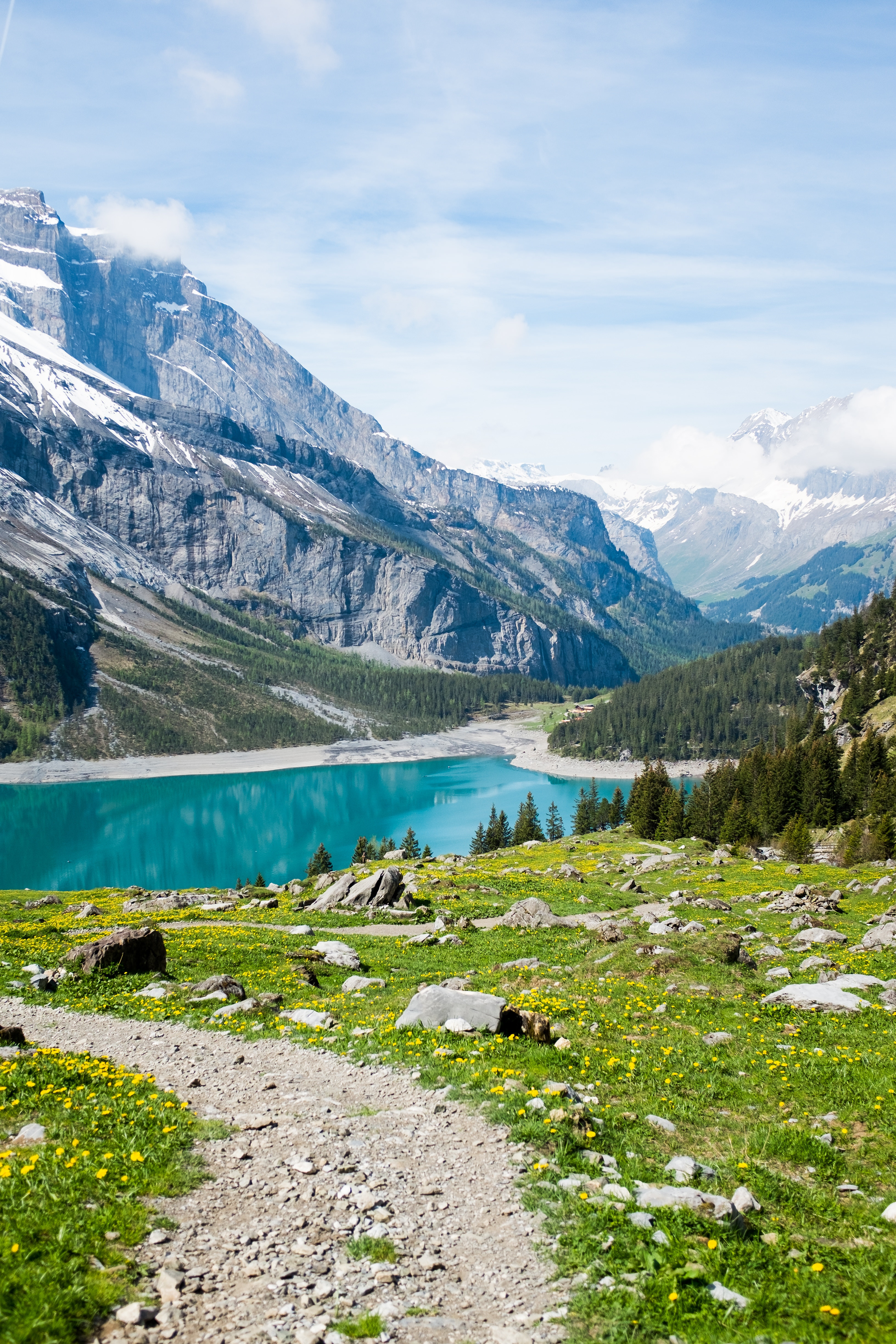 131628 Screensavers and Wallpapers Summer for phone. Download Landscape, Nature, Grass, Mountains, Summer, Lake pictures for free