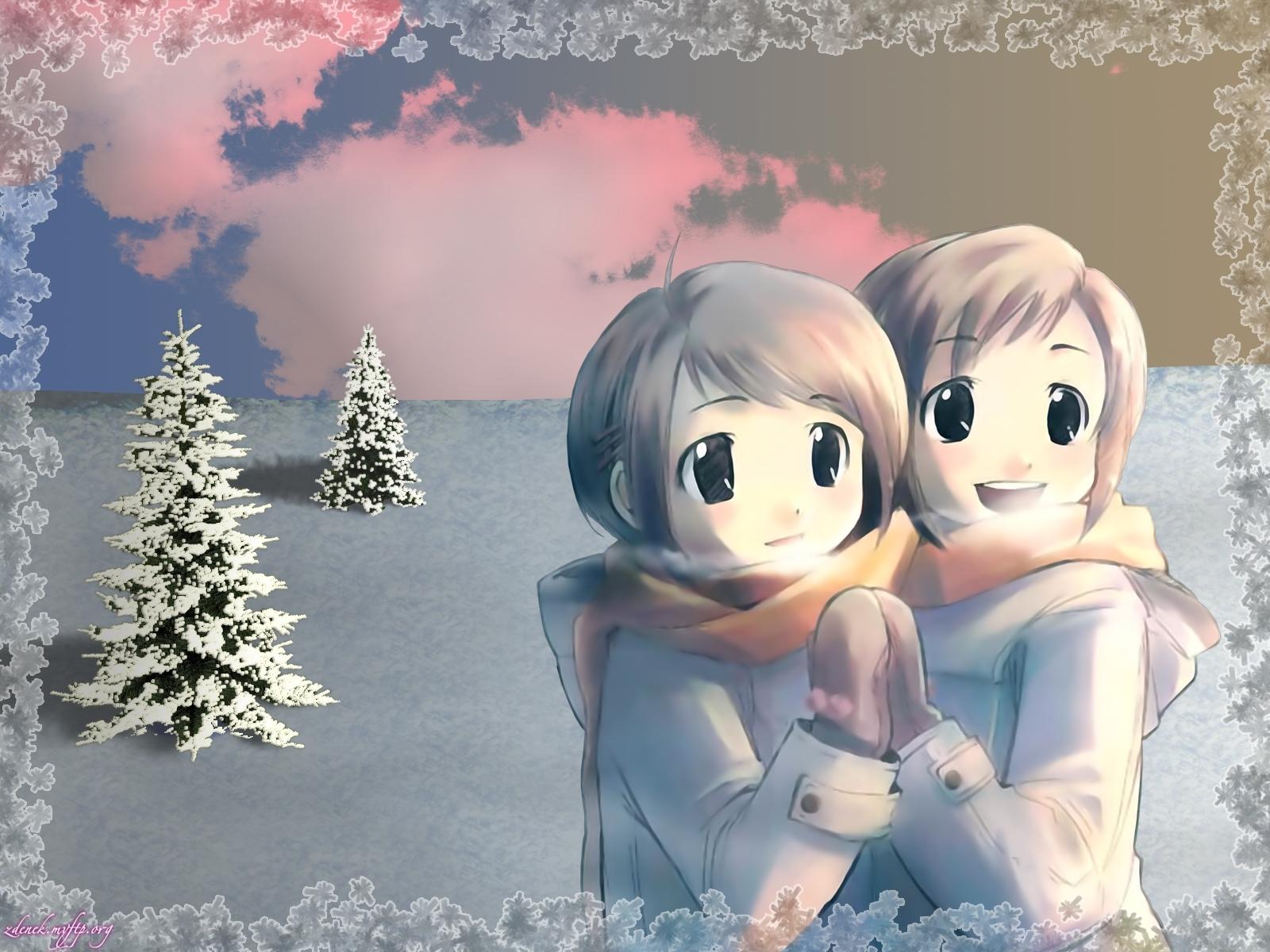 396 papel de parede 240x320 em seu telefone gratuitamente, baixe imagens Anime, Inverno, Crianças 240x320 em seu celular