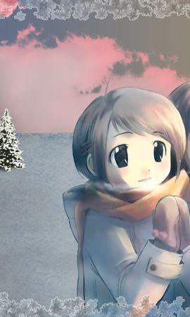 396 télécharger le fond d'écran Anime, Hiver, Enfants - économiseurs d'écran et images gratuitement