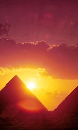 53965 скачать обои Природа, Солнце, Пирамиды, Египет - заставки и картинки бесплатно