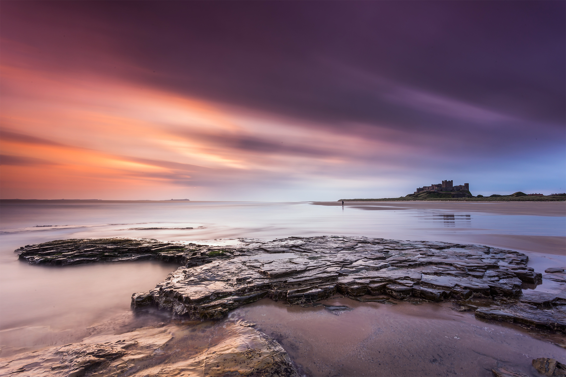 91494 download wallpaper Nature, Stones, Sea, Lock, England, Northumberland, Bamborough, Bumboro screensavers and pictures for free