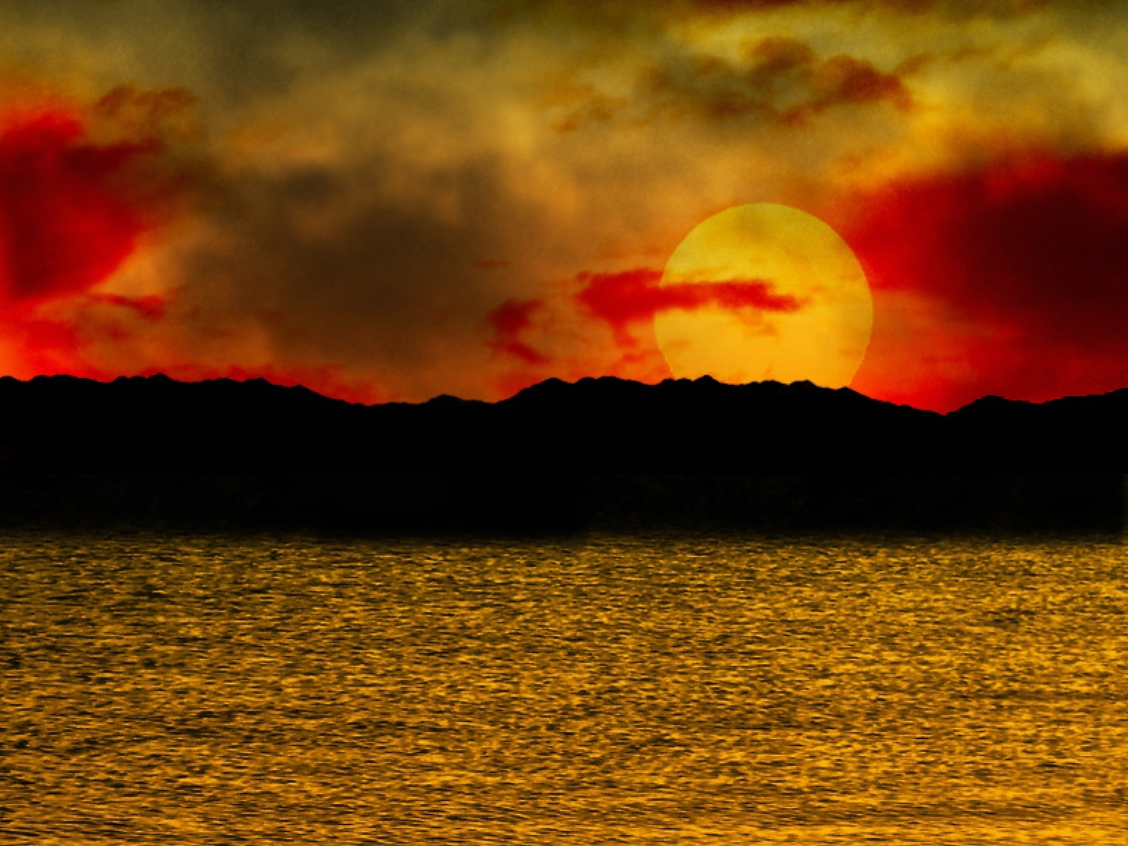 5716 download wallpaper Landscape, Sunset, Sea, Sun screensavers and pictures for free