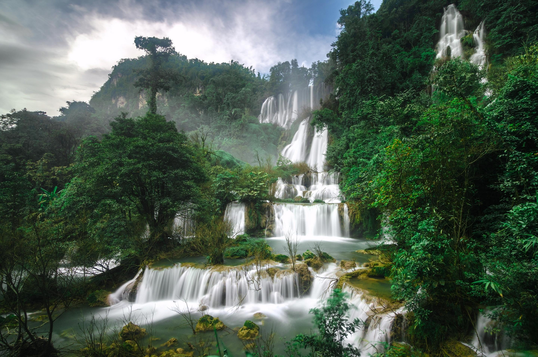 153309 скачать обои Природа, Водопад, Таиланд, Каскад, Ти Ло Су - заставки и картинки бесплатно