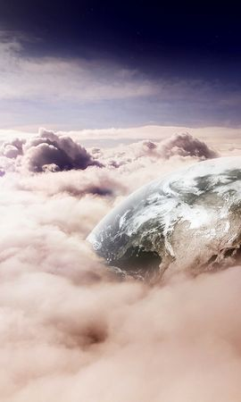 13235 télécharger le fond d'écran Paysage, Sky, Planètes, Nuages - économiseurs d'écran et images gratuitement