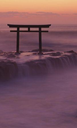 23767 скачать обои Пейзаж, Закат, Море, Волны, Азия - заставки и картинки бесплатно