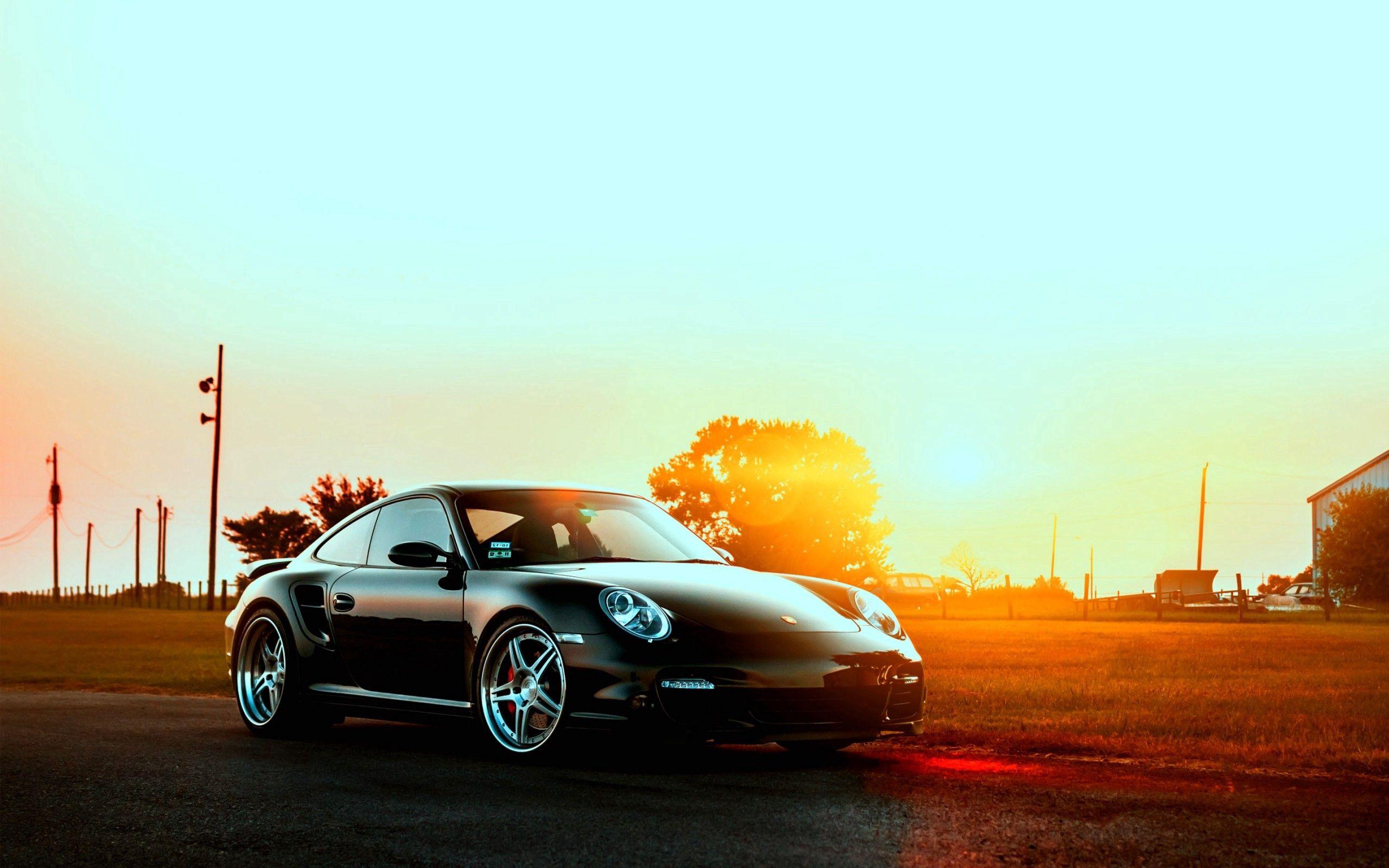86936 Hintergrundbild herunterladen Auto, Porsche, Sunset, Cars, Stadt - Bildschirmschoner und Bilder kostenlos