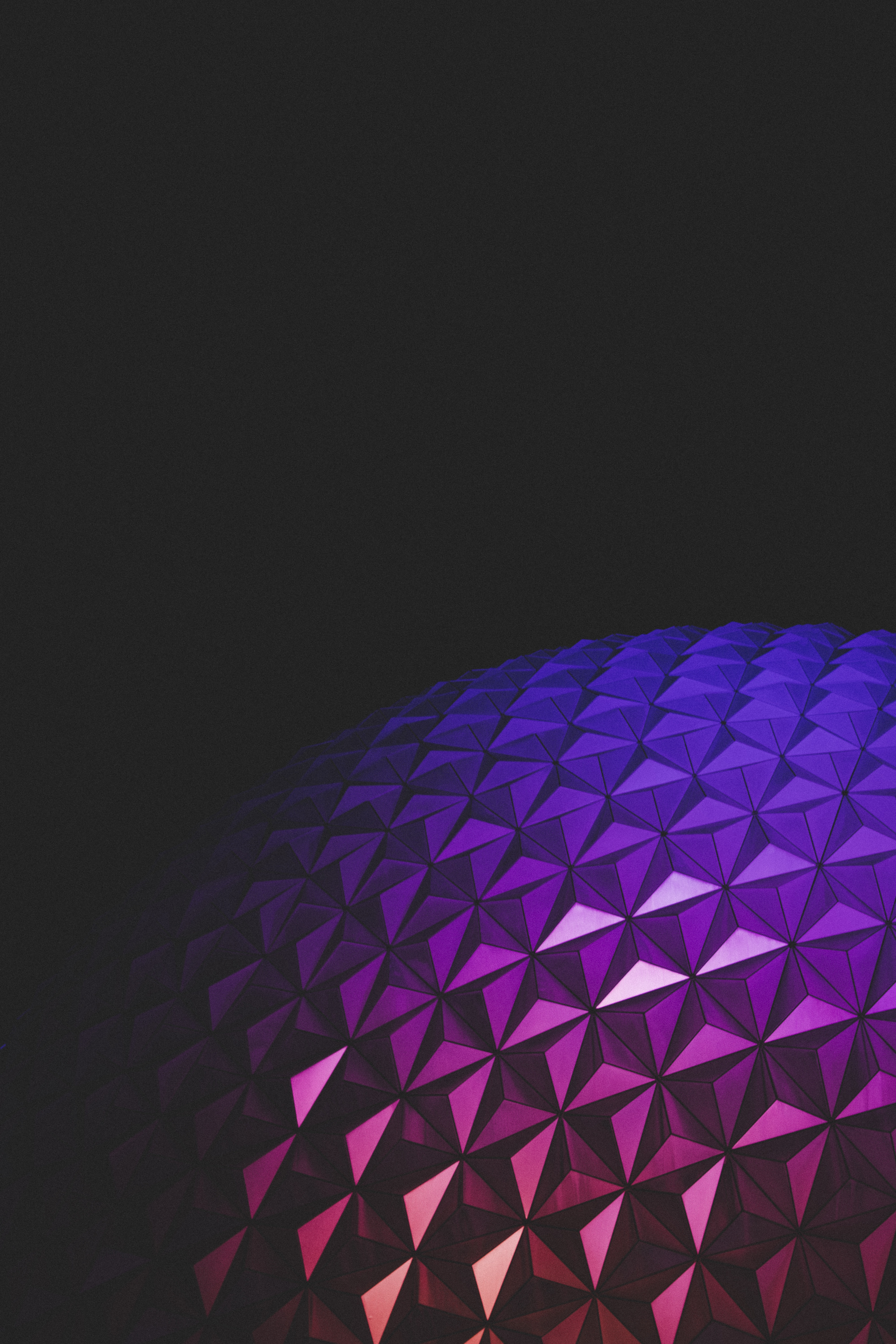 79306 download wallpaper Dark, Ball, Relief, Gradient, Shine, Light, Architecture screensavers and pictures for free