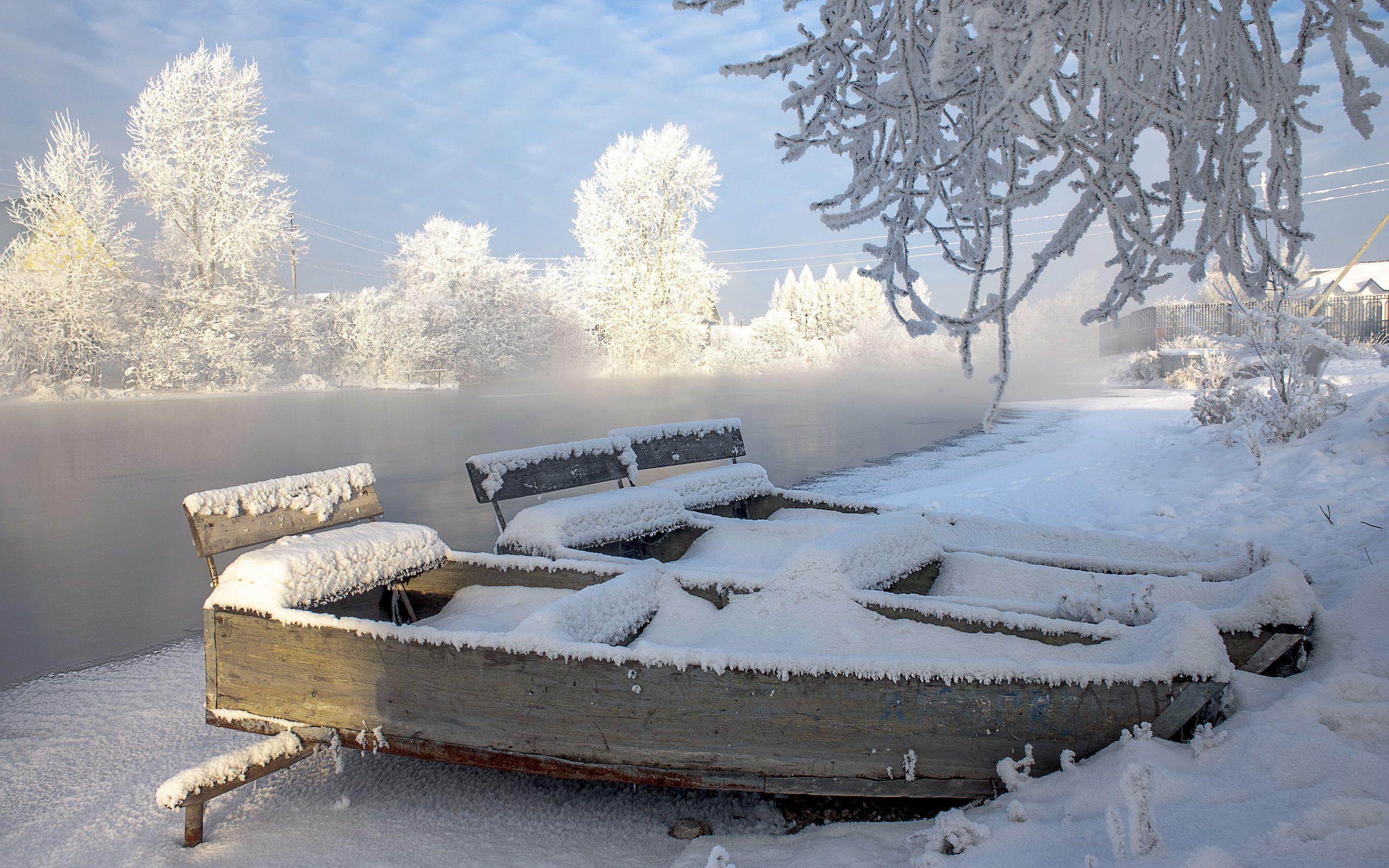 136248 Заставки и Обои Лодки на телефон. Скачать Природа, Река, Лодки, Зима, Пейзаж картинки бесплатно