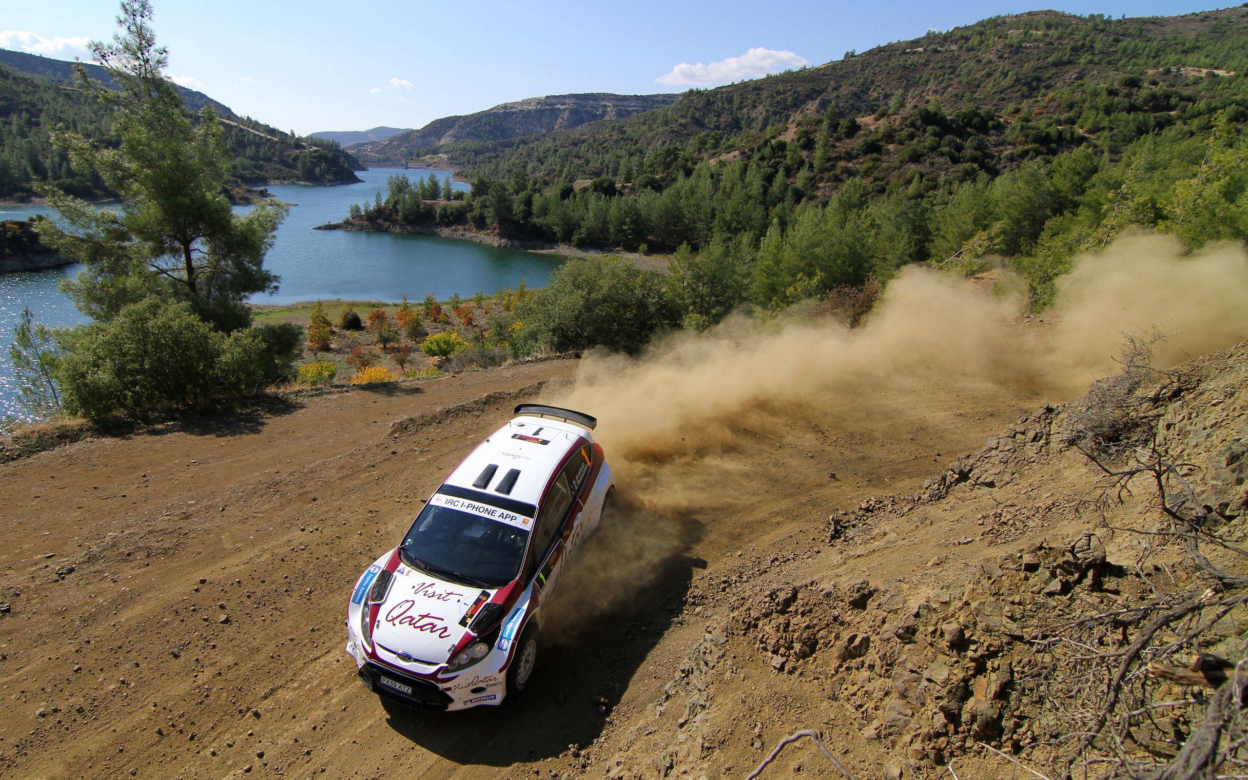 115078 Hintergrundbild herunterladen Sport, Ford, Wende, Drehen, Staub, Interkontinentale Rallye-Herausforderung, Al Attiyah, Zypern 2011 - Bildschirmschoner und Bilder kostenlos