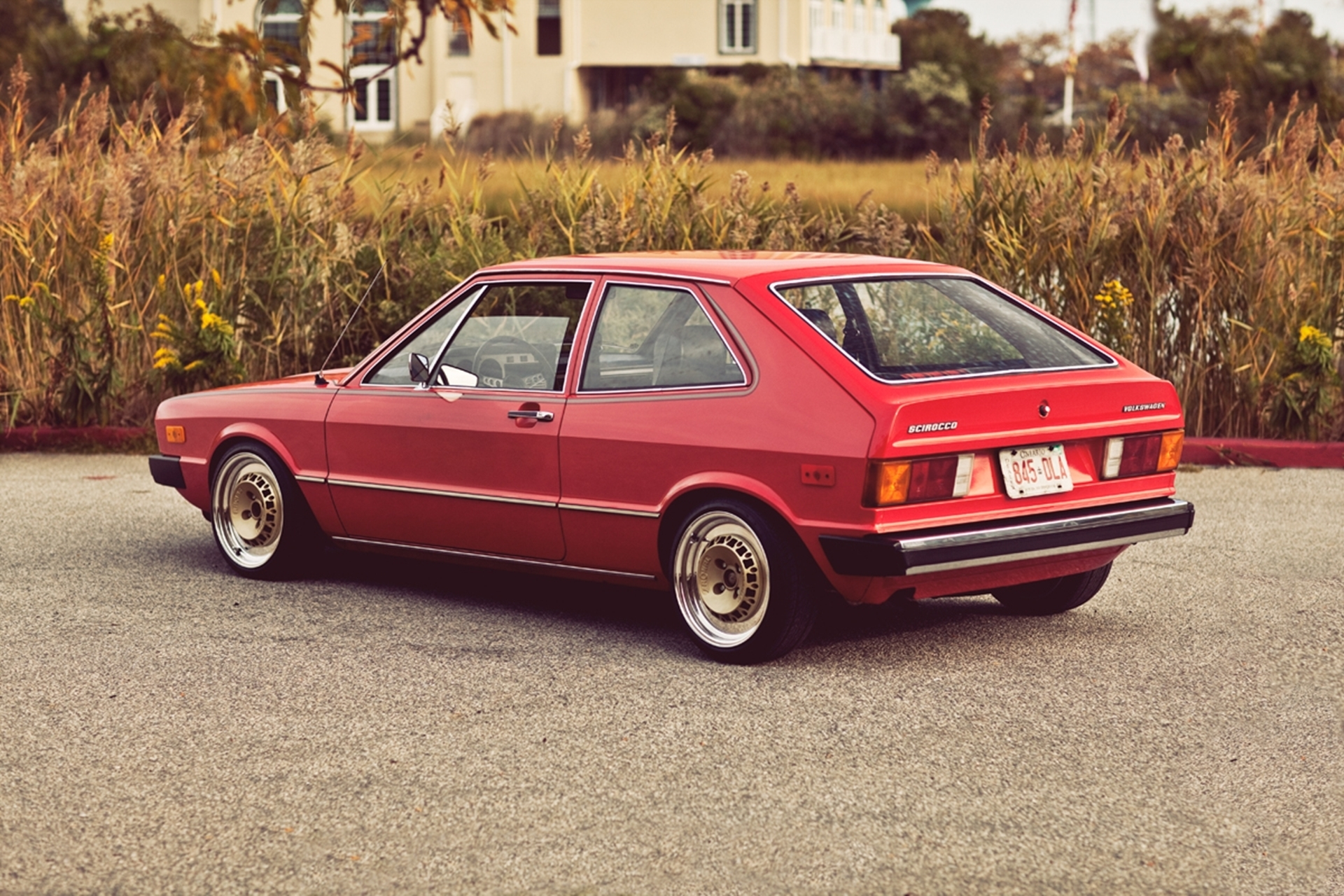 134431 download wallpaper Volkswagen, Cars, Back View, Rear View, Mk1, 1975, Vw, Scirocco screensavers and pictures for free