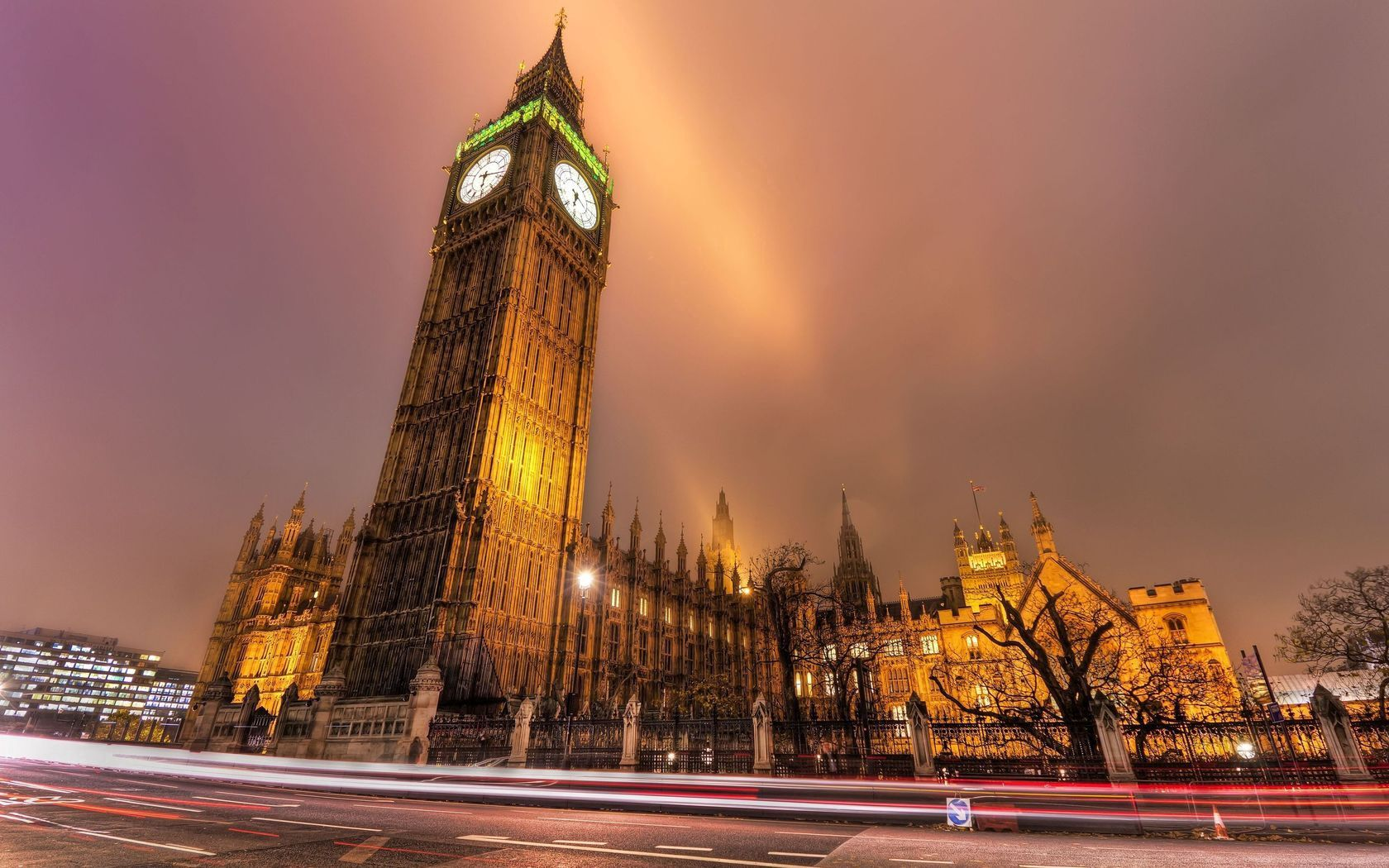 67984 Screensavers and Wallpapers London for phone. Download Cities, London, Building, Road, City Lights, Evening, Street pictures for free