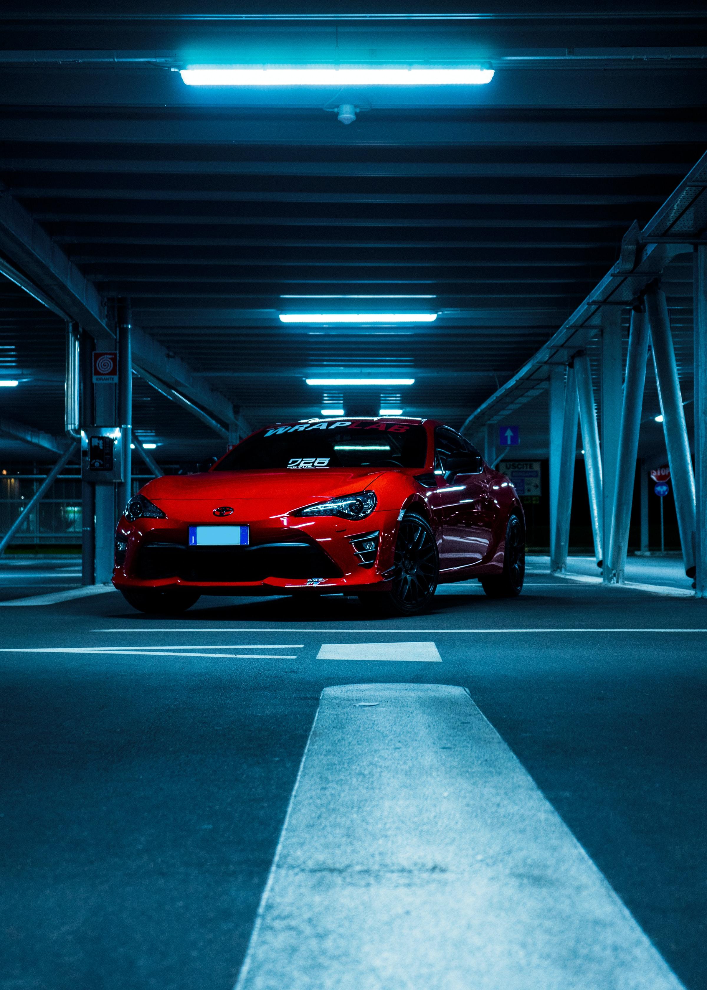 55815 скачать обои Тачки (Cars), Тойота (Toyota), Автомобиль, Спорткар, Вид Спереди, Красный - заставки и картинки бесплатно