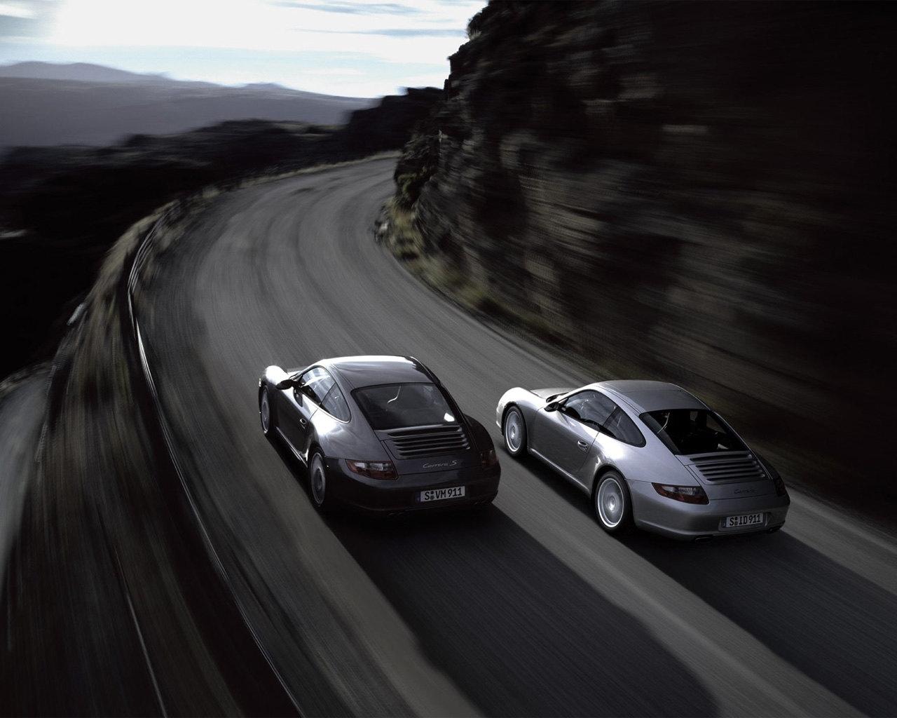 48 скачать обои Машины, Порш (Porsche), Дороги - заставки и картинки бесплатно