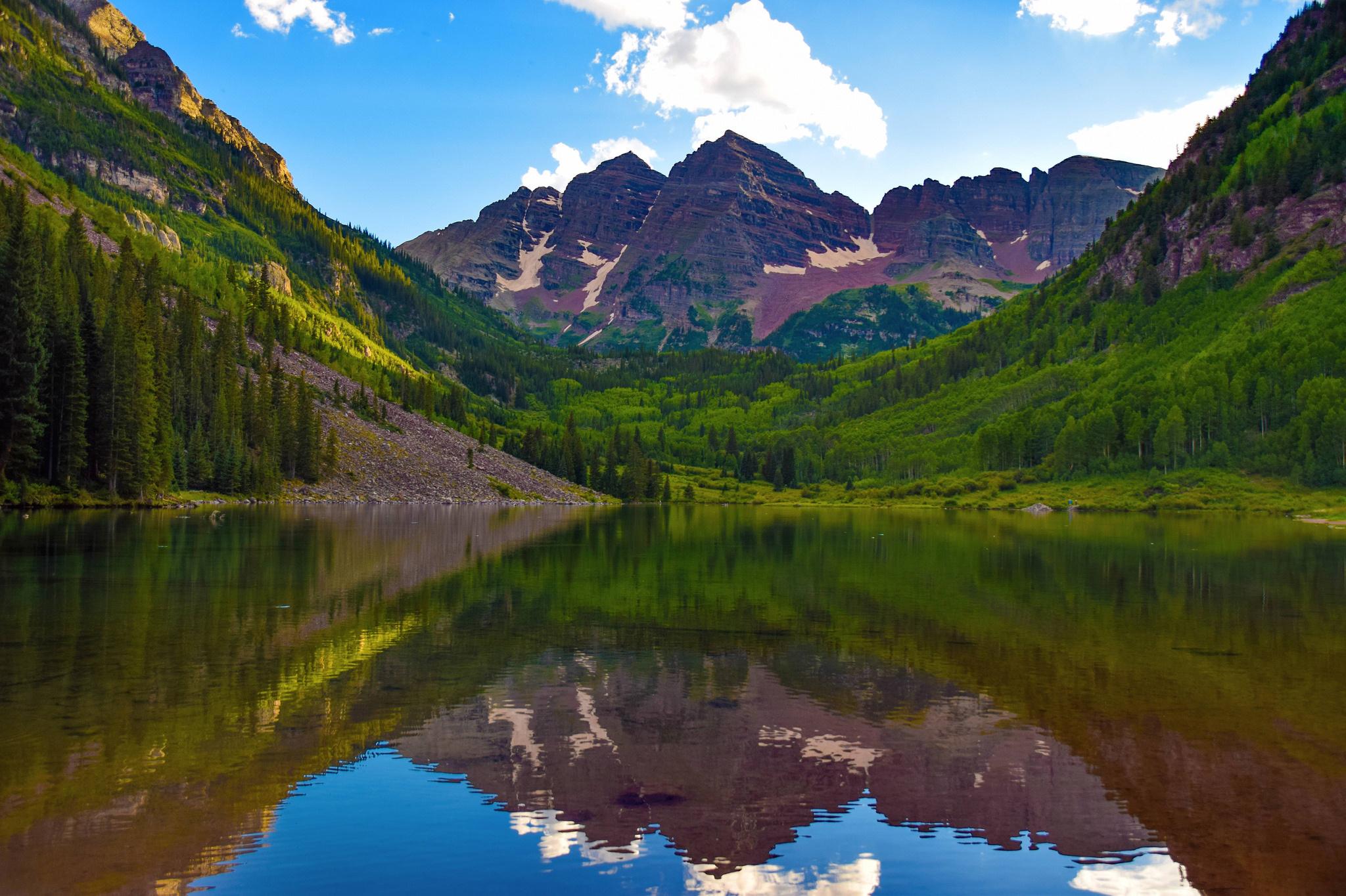64926 Заставки и Обои Природа на телефон. Скачать Природа, Марун-Беллс, Колорадо, Сша, Озеро, Горы картинки бесплатно