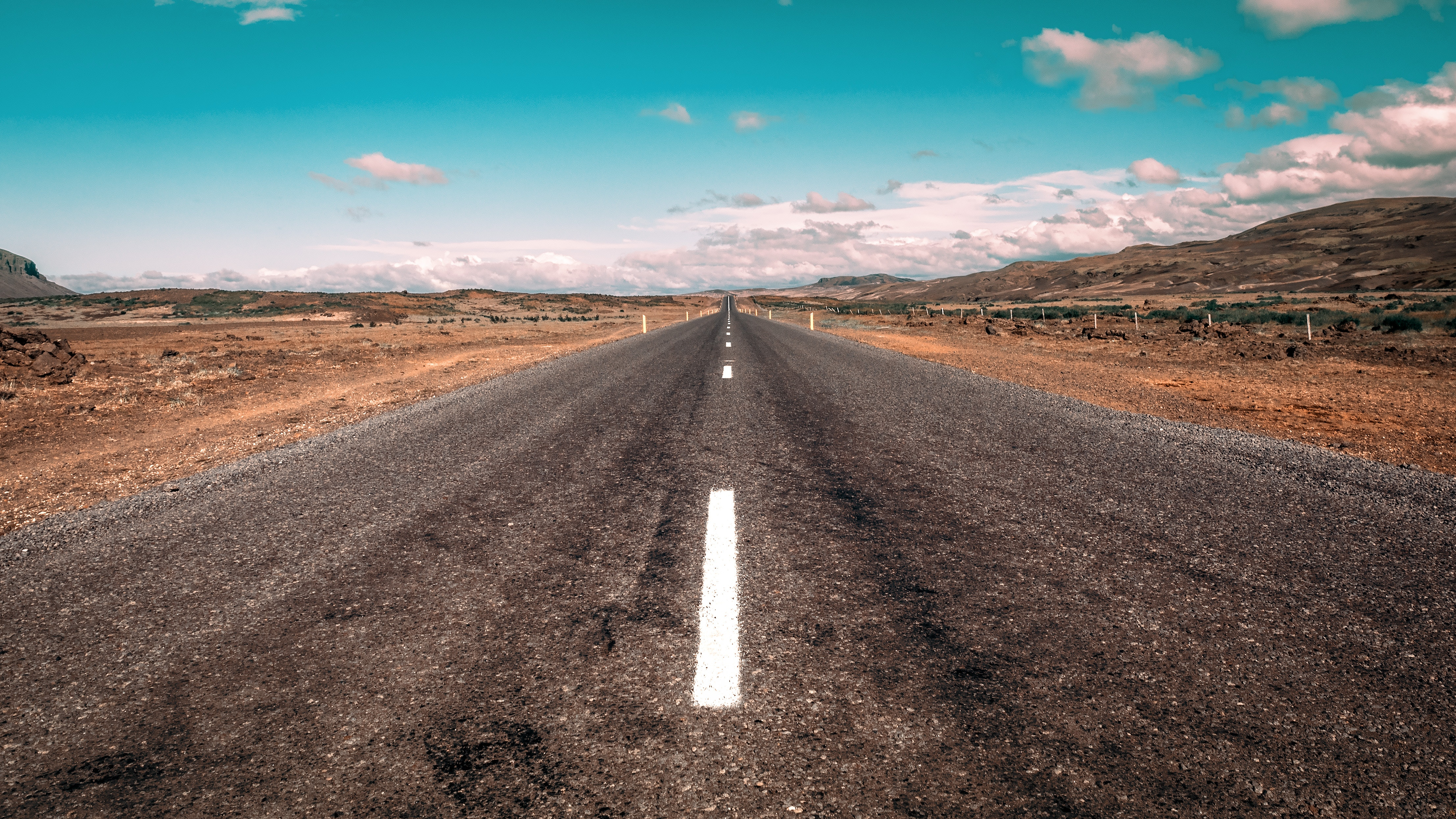 105168 Screensavers and Wallpapers Road for phone. Download Nature, Road, Markup, Dahl, Distance pictures for free