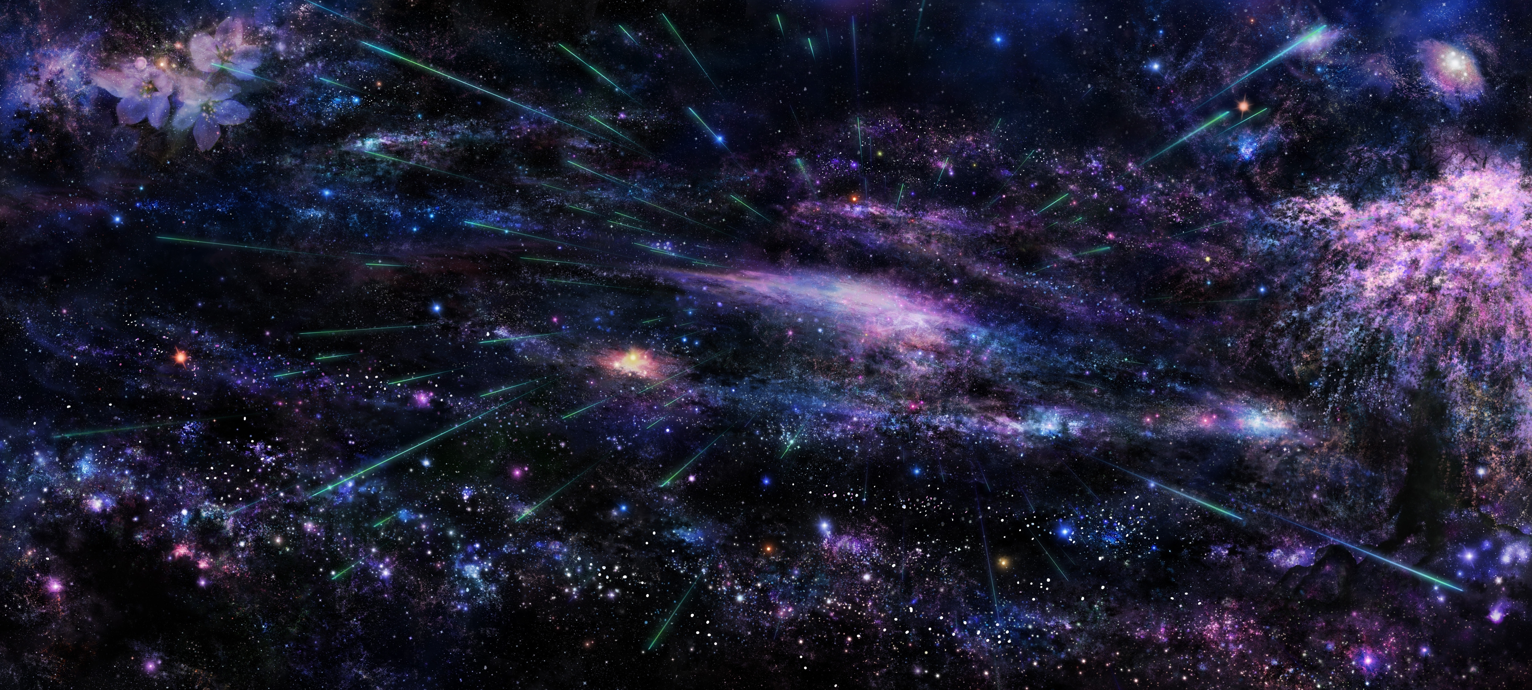 108836 скачать обои Небо, Пространство, Космос, Дерево, Арт, Звёзды - заставки и картинки бесплатно