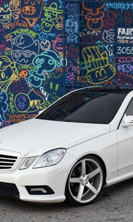 128586 télécharger le fond d'écran Voitures, Mercedes, Classe E, Tuning, Graffiti - économiseurs d'écran et images gratuitement
