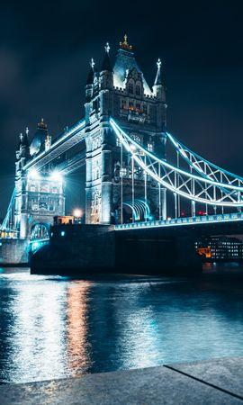 150609 Заставки и Обои Архитектура на телефон. Скачать Мост, Ночной Город, Подсветка, Река, Архитектура, Города картинки бесплатно