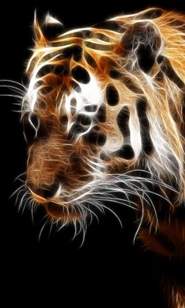 11336 download wallpaper Animals, Art, Tigers screensavers and pictures for free