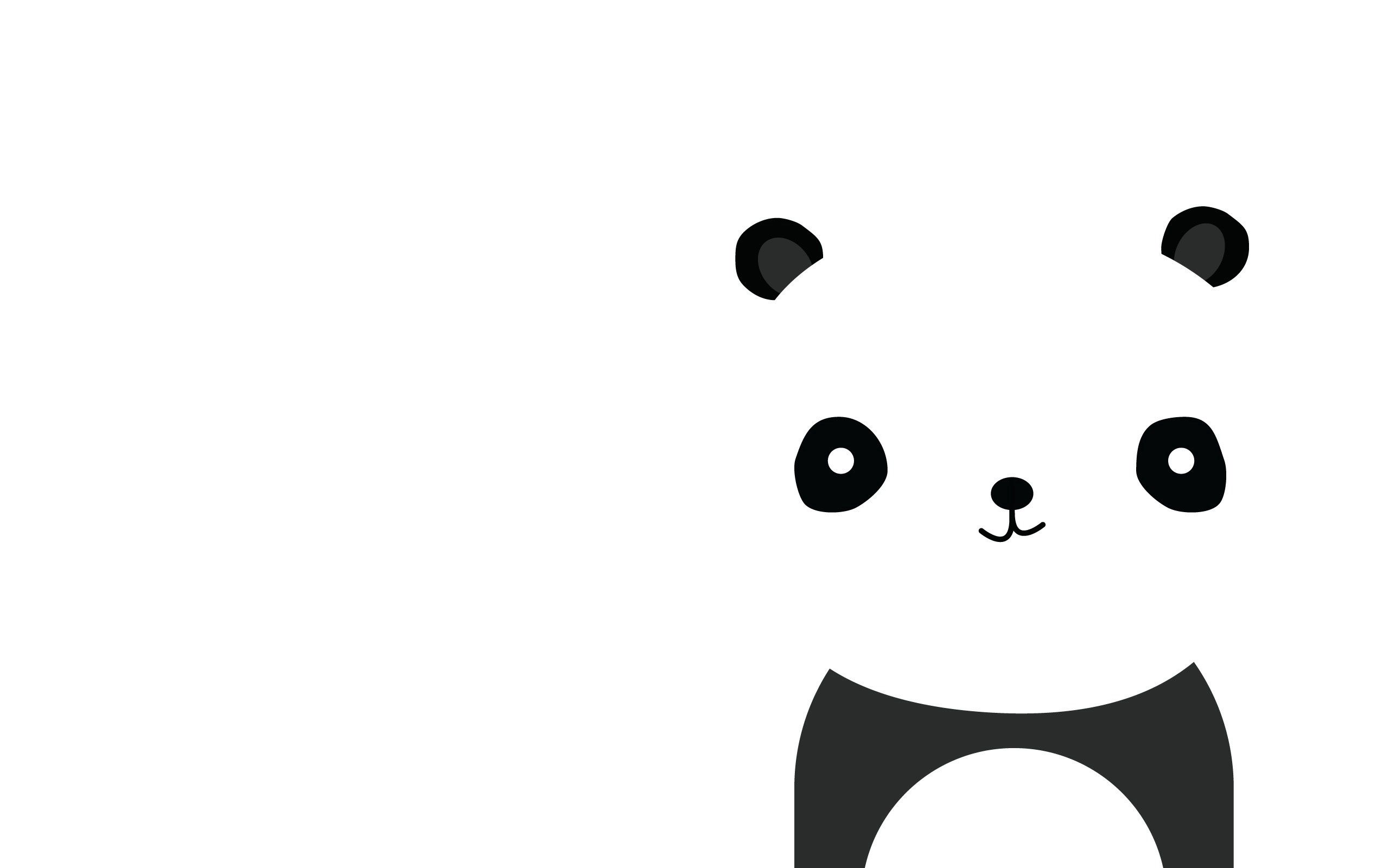 103822 descarga Blanco fondos de pantalla para tu teléfono gratis, Minimalismo, Panda, Sonrisa, Sonreír, El Negro Blanco imágenes y protectores de pantalla para tu teléfono