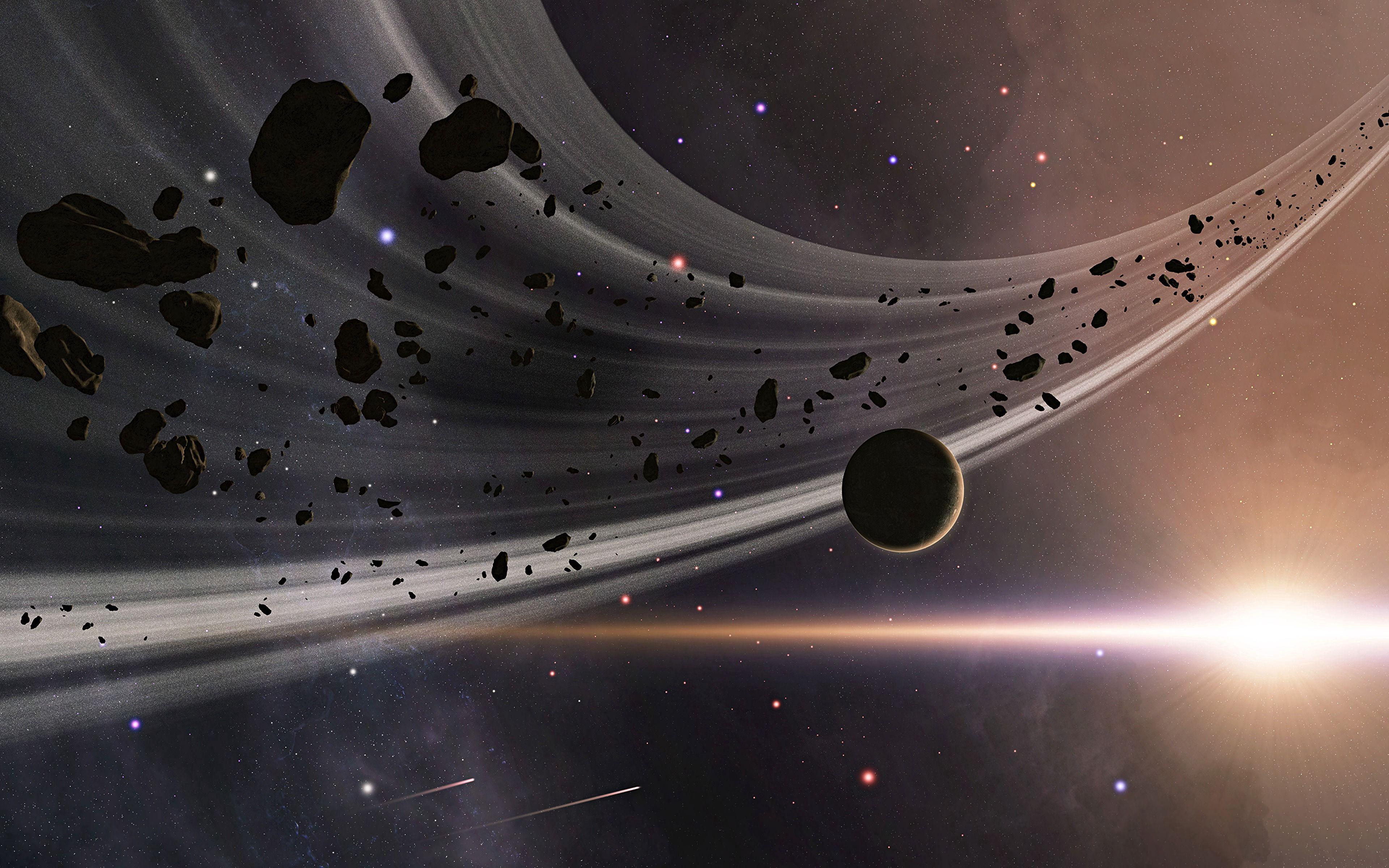 70472 Hintergrundbild herunterladen Universum, Sterne, Blitz, Planet, Planeten, Asteroiden - Bildschirmschoner und Bilder kostenlos