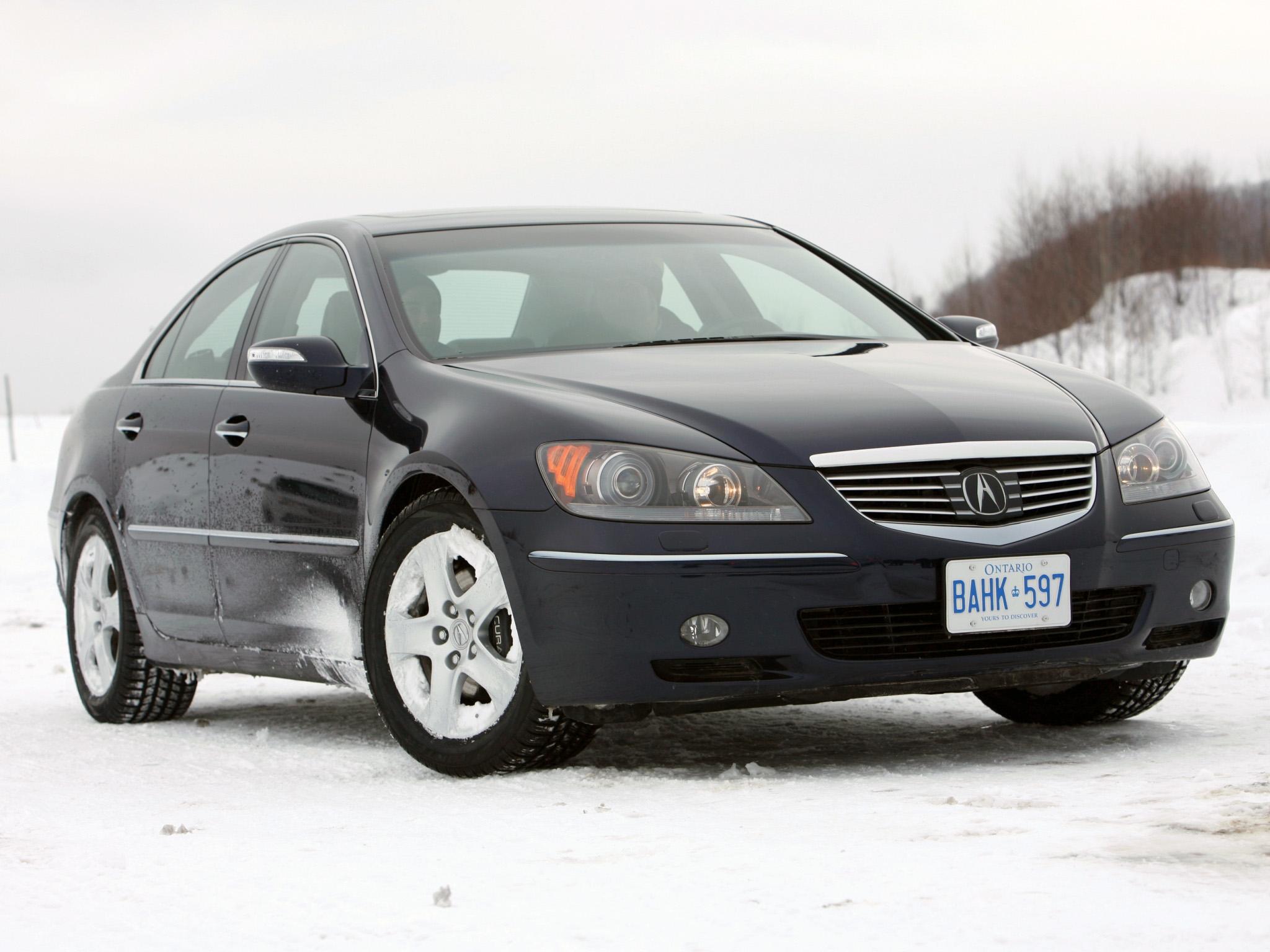 86094 скачать обои Тачки (Cars), Акура (Acura), Rl, Черный, Вид Спереди, Акура, Машины, Снег, Стиль - заставки и картинки бесплатно