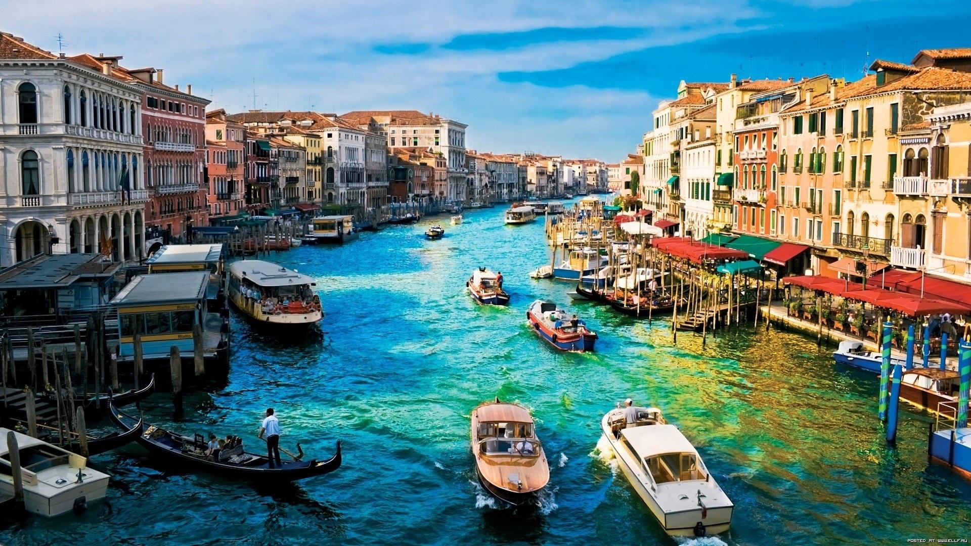 24106 скачать обои Пейзаж, Города, Лодки, Венеция - заставки и картинки бесплатно