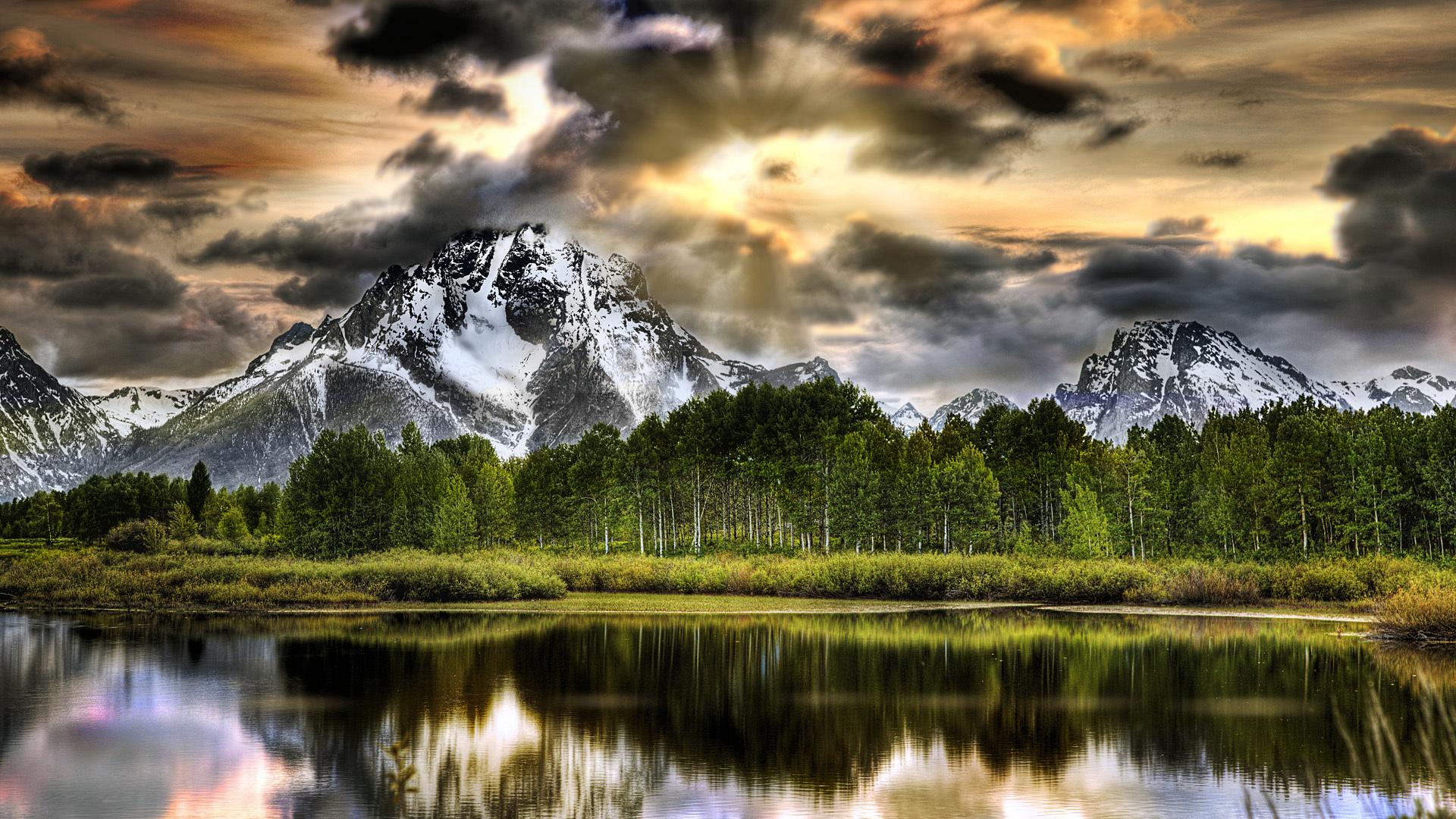 25674 descargar fondo de pantalla Paisaje, Ríos, Árboles, Montañas: protectores de pantalla e imágenes gratis