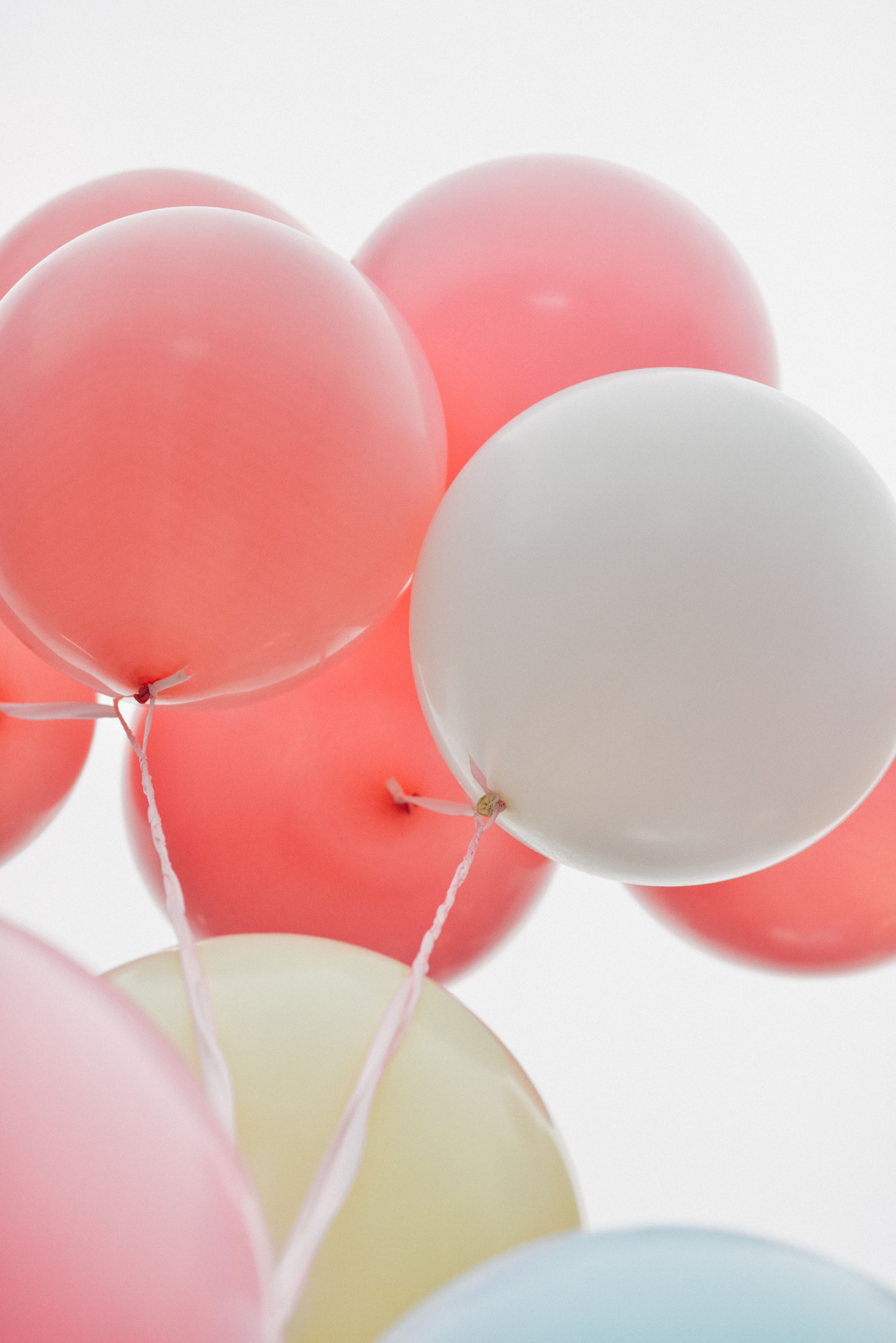 127363 Screensavers and Wallpapers Balloons for phone. Download Pink, Balloons, Miscellanea, Miscellaneous, Multicolored, Motley, Taw, Air Balloons pictures for free
