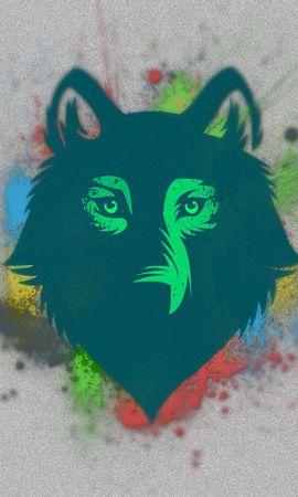 64641 baixar papel de parede Abstrato, Lobo, Focinho, Foto, Desenho, Manchas, Pontos - protetores de tela e imagens gratuitamente