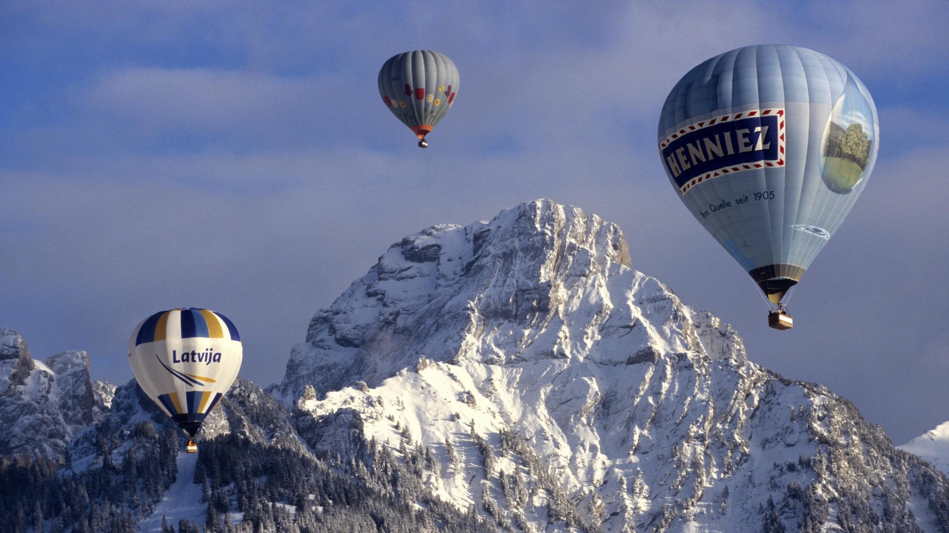 32553 скачать обои Пейзаж, Горы, Воздушные Шары - заставки и картинки бесплатно