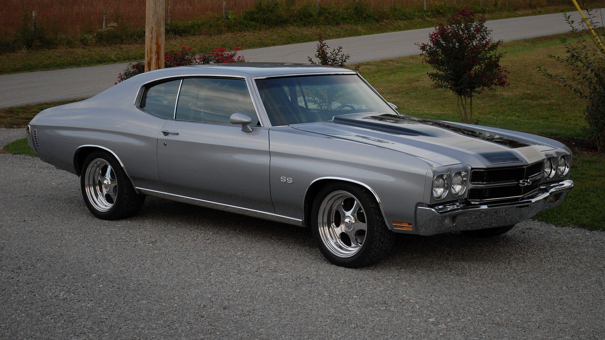135714 скачать обои Тачки (Cars), Шевроле (Chevrolet), Chevelle, Ss, 1970, Серый, Вид Сбоку - заставки и картинки бесплатно