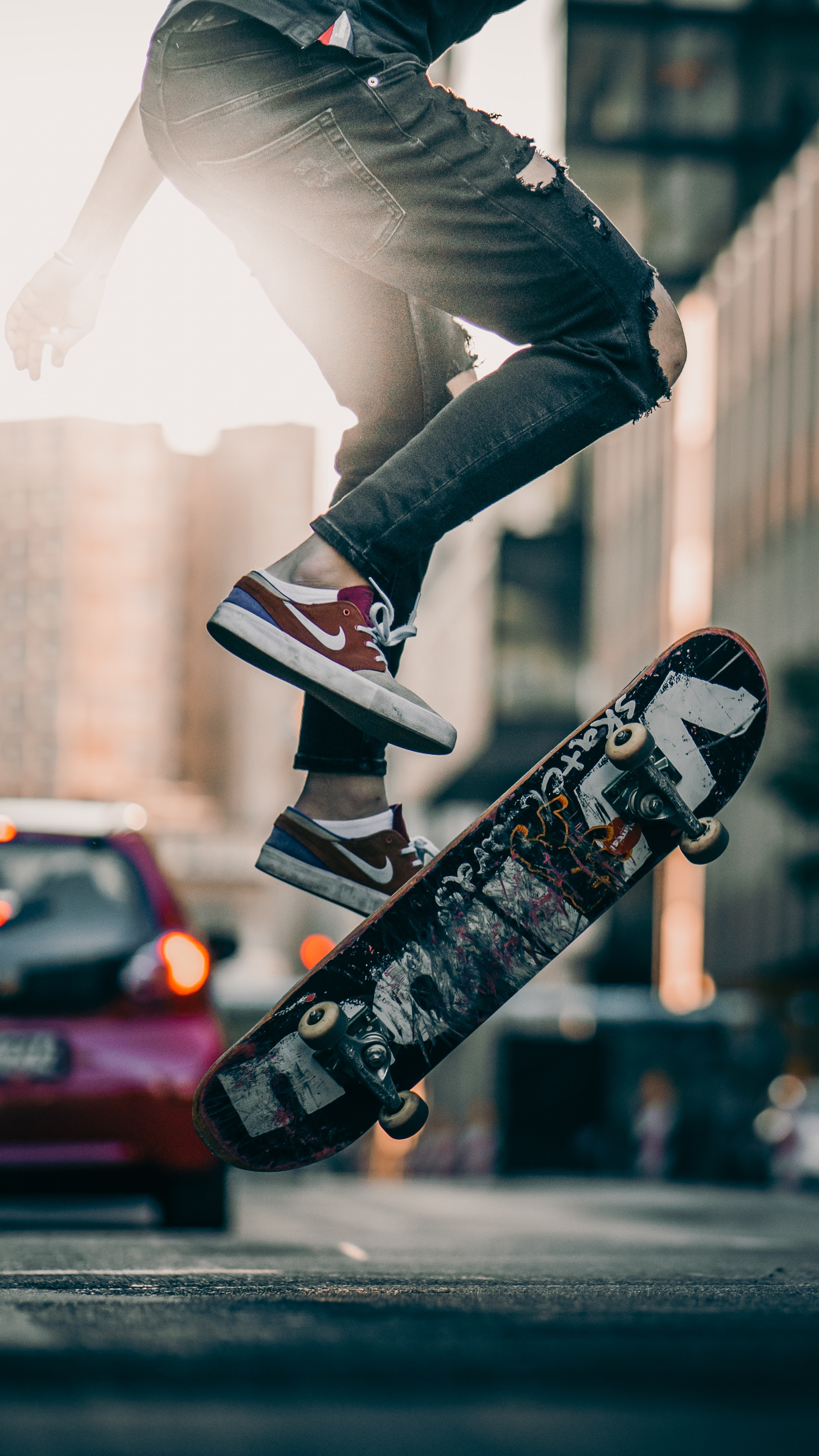 83767 скачать обои Разное, Скейтборд, Ноги, Кроссовки, Прыжок, Трюк - заставки и картинки бесплатно
