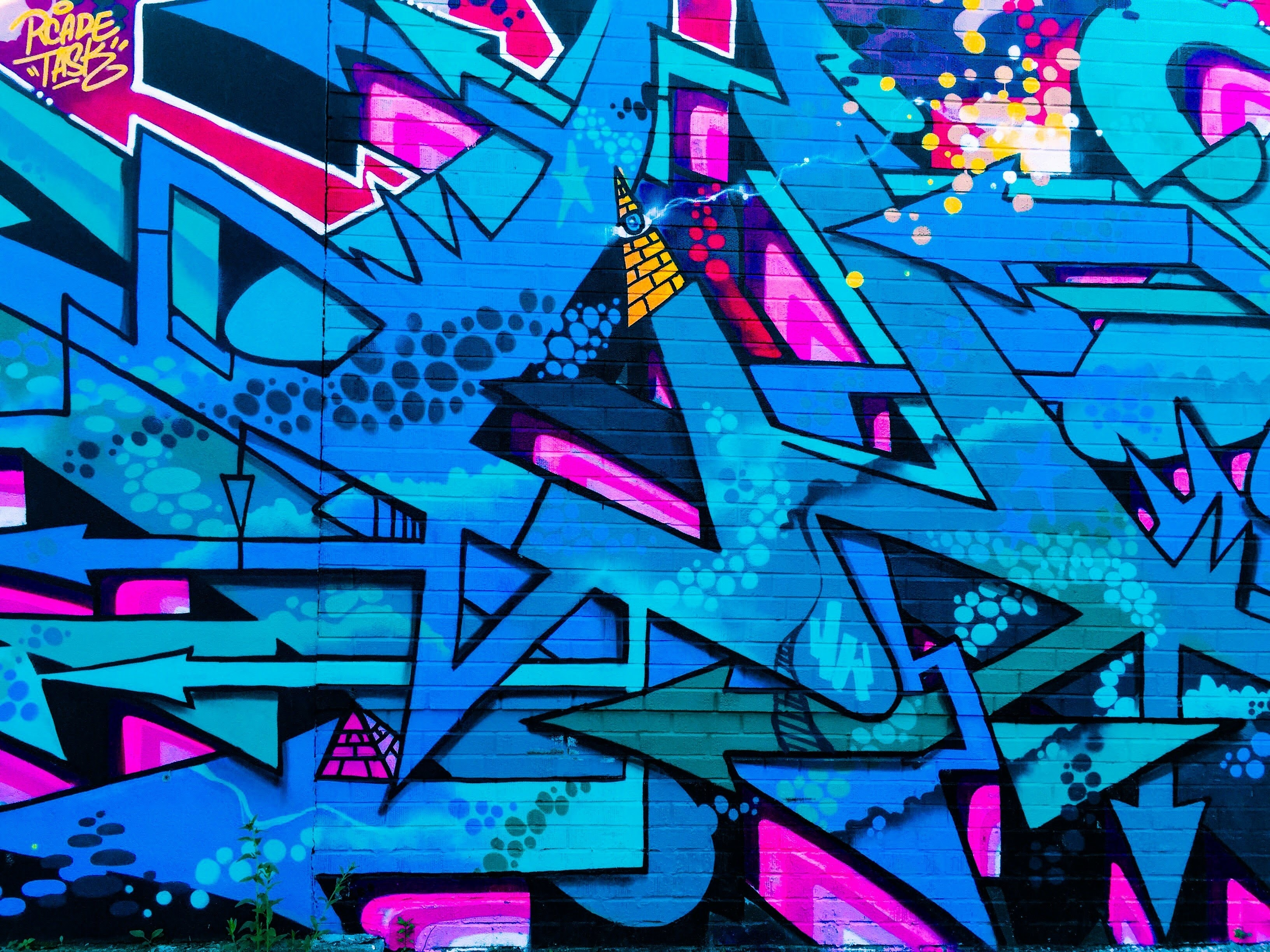65581 download wallpaper Art, Graffiti, Street Art, Colorful, Colourful, Wall, Urban screensavers and pictures for free