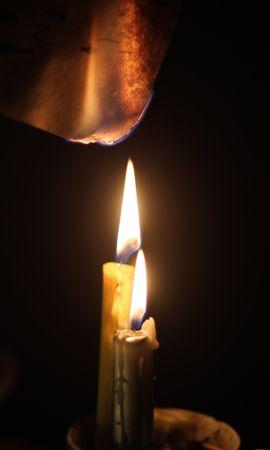 121606 завантажити шпалери Різне, Свічки, Вогонь, Горіти, Записати, Папір - заставки і картинки безкоштовно
