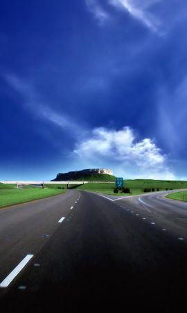 20808 скачать обои Пейзаж, Небо, Дороги, Облака - заставки и картинки бесплатно
