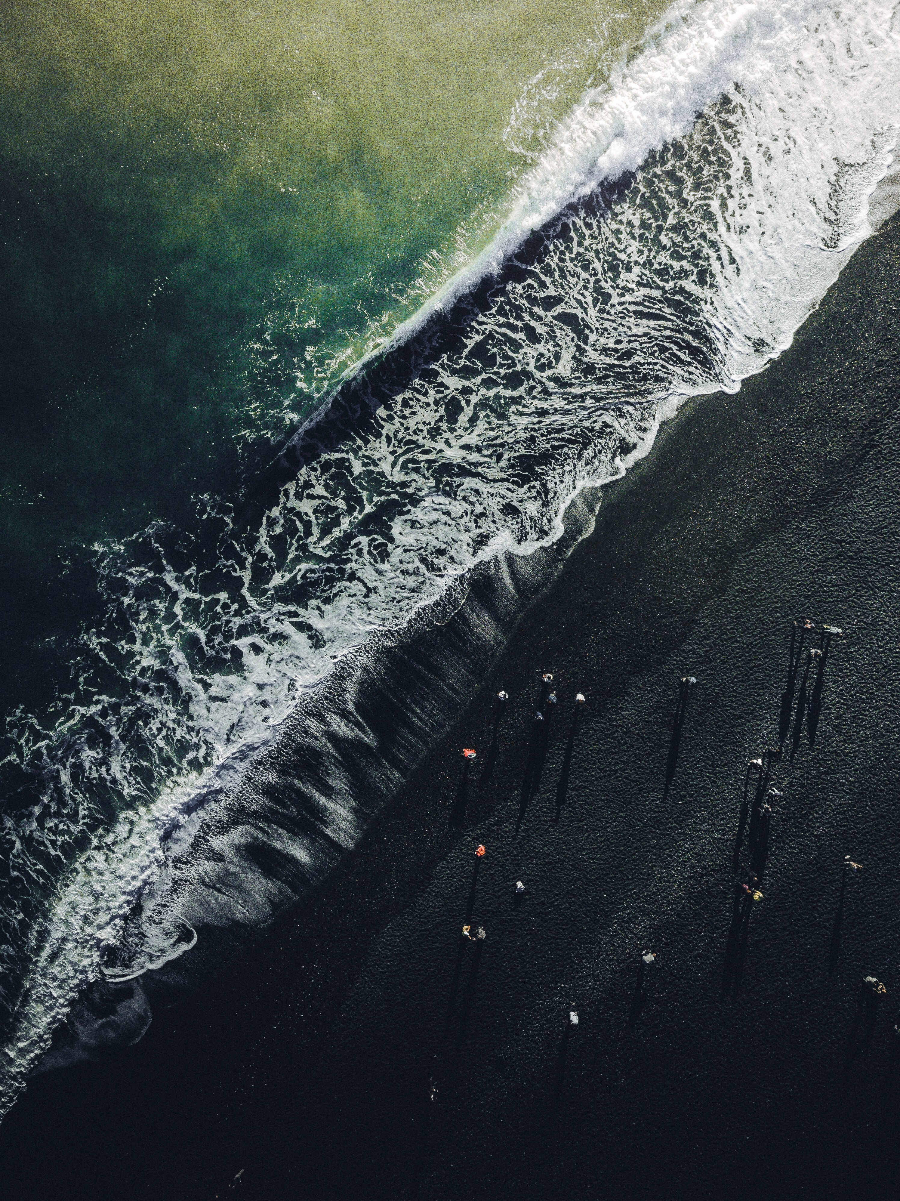 115177 Screensavers and Wallpapers Ocean for phone. Download Ocean, Nature, View From Above, Shore, Bank, Surf, Iceland, Wave pictures for free