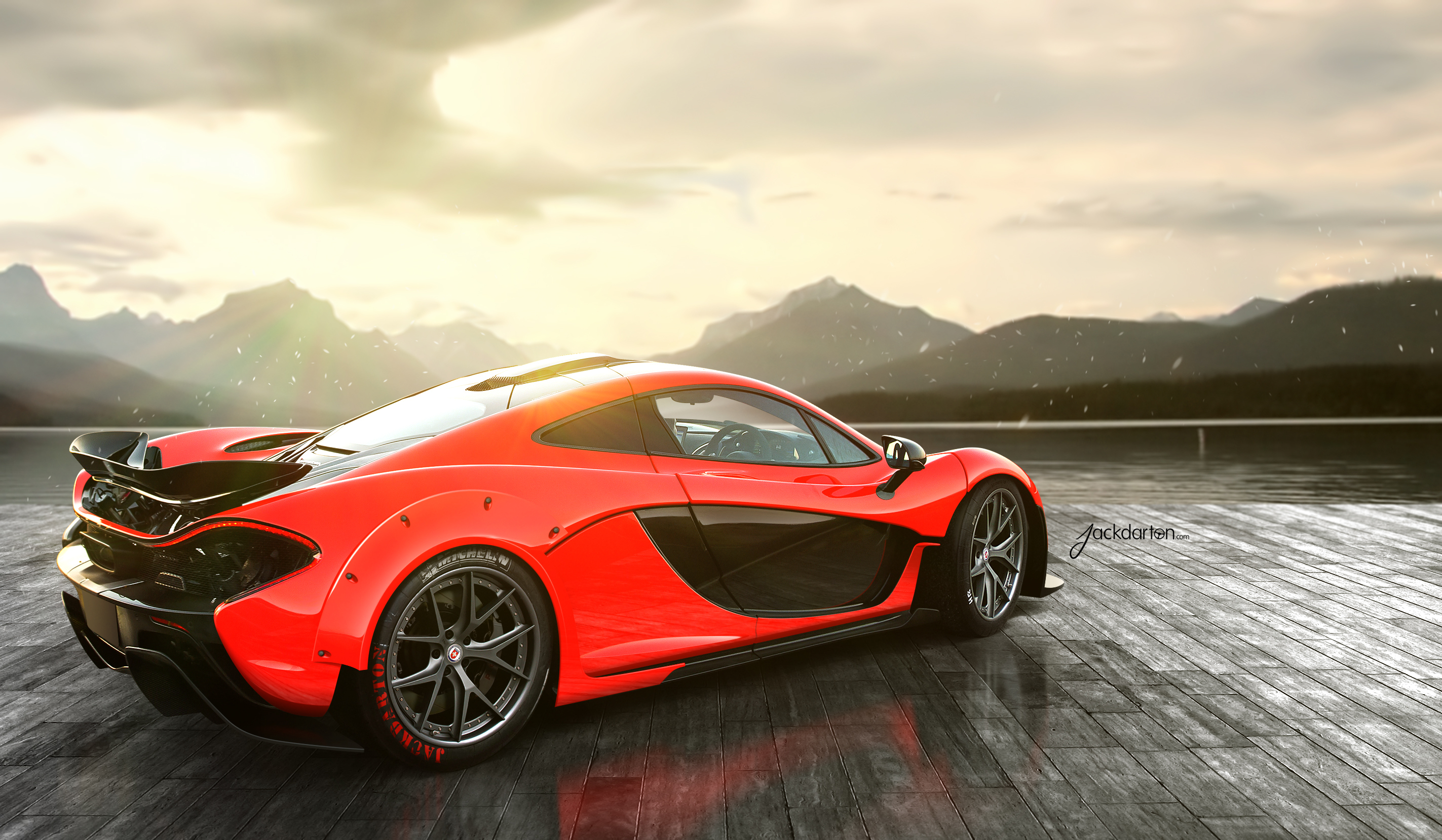 142755 download wallpaper Mclaren, Cars, Rear, P1 screensavers and pictures for free