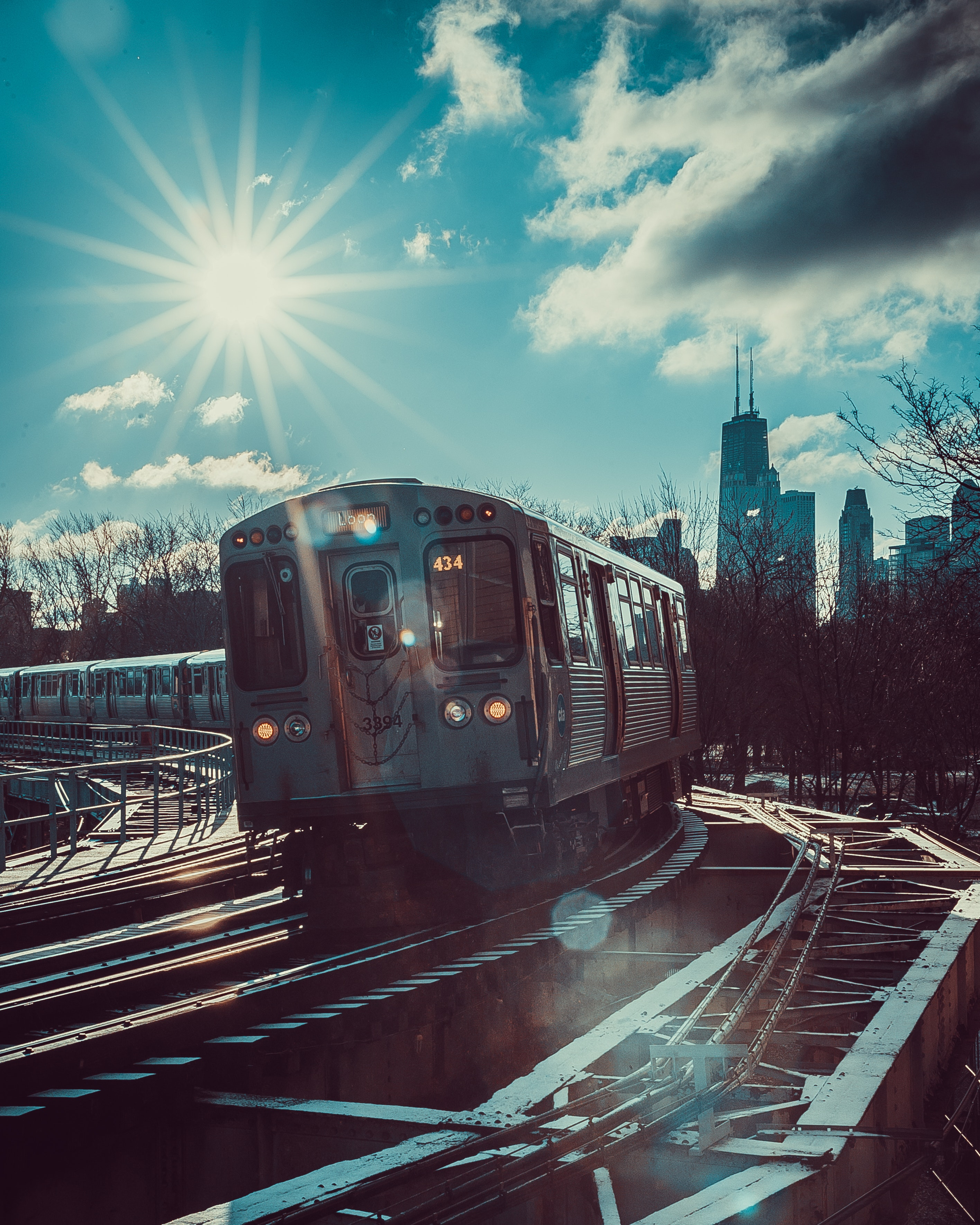 56056 download wallpaper Miscellanea, Miscellaneous, Train, Railway, Railway Carriage, Car, Sunlight, Traffic, Movement screensavers and pictures for free