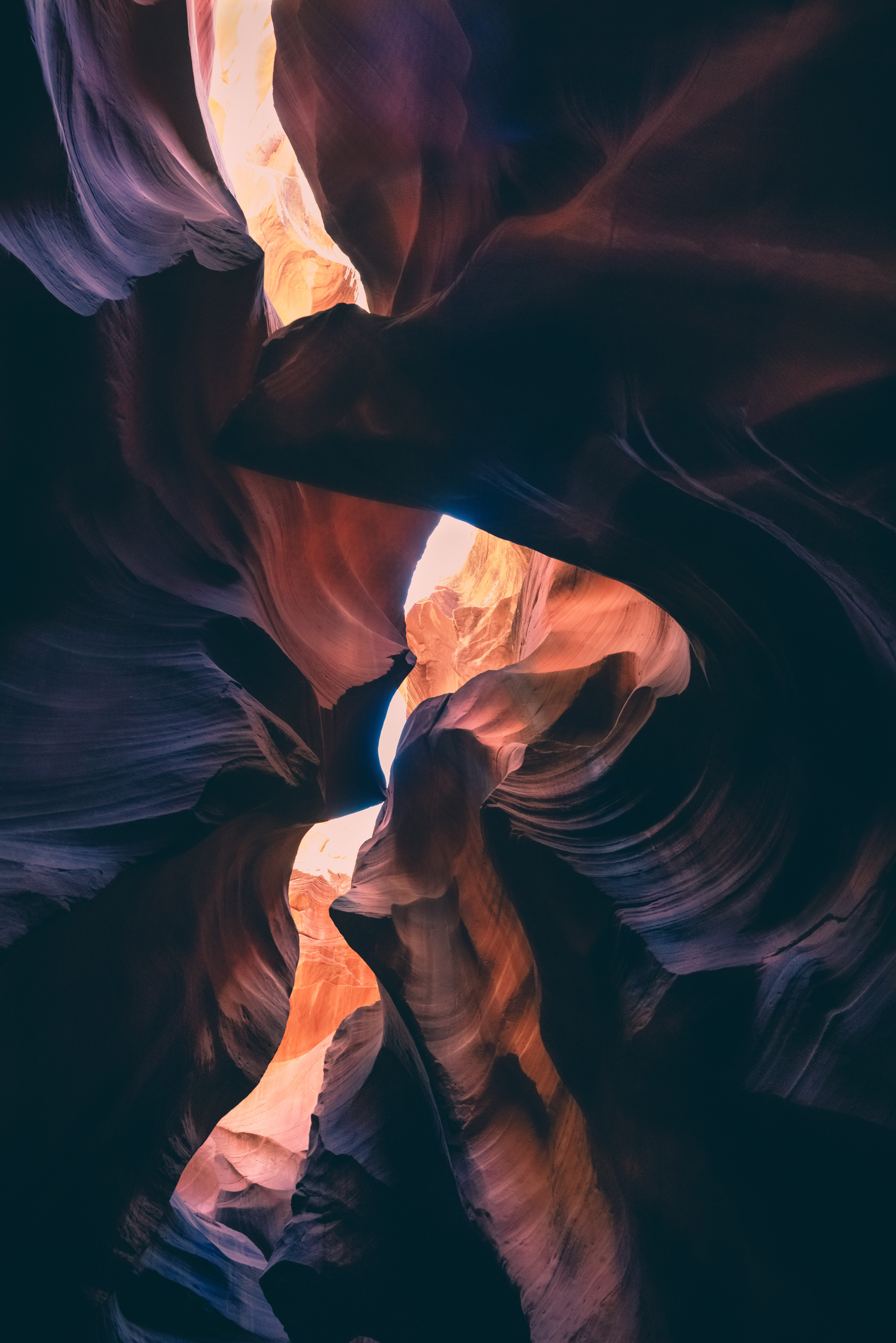 115327 download wallpaper Nature, Canyon, Layers, Shadows, Dark screensavers and pictures for free