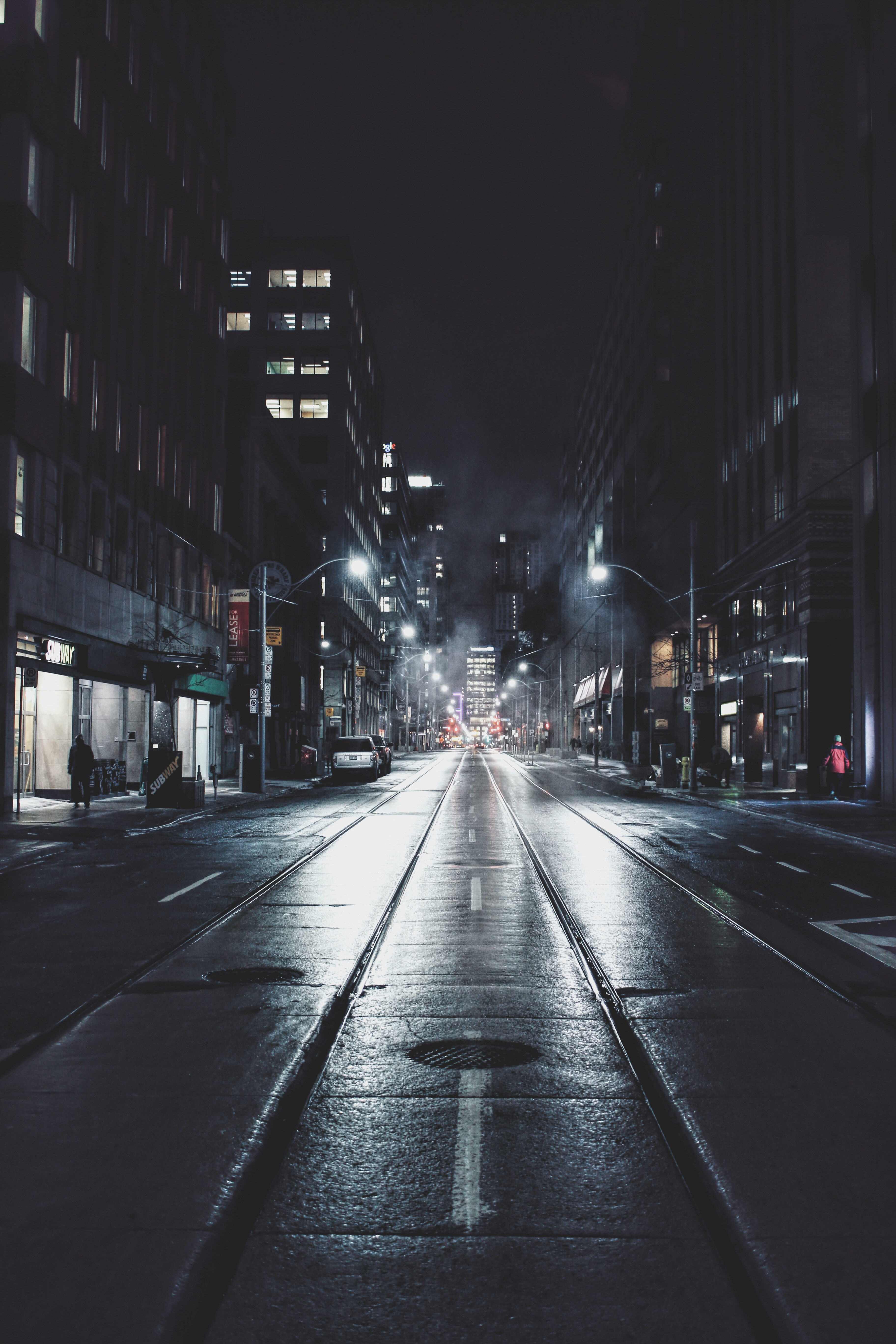56288 Screensavers and Wallpapers Night City for phone. Download Night City, Cities, Building, Canada, Road, Street, Toronto pictures for free