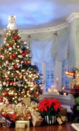 9724 descargar fondo de pantalla Vacaciones, Año Nuevo, Abetos, Navidad, Postales: protectores de pantalla e imágenes gratis