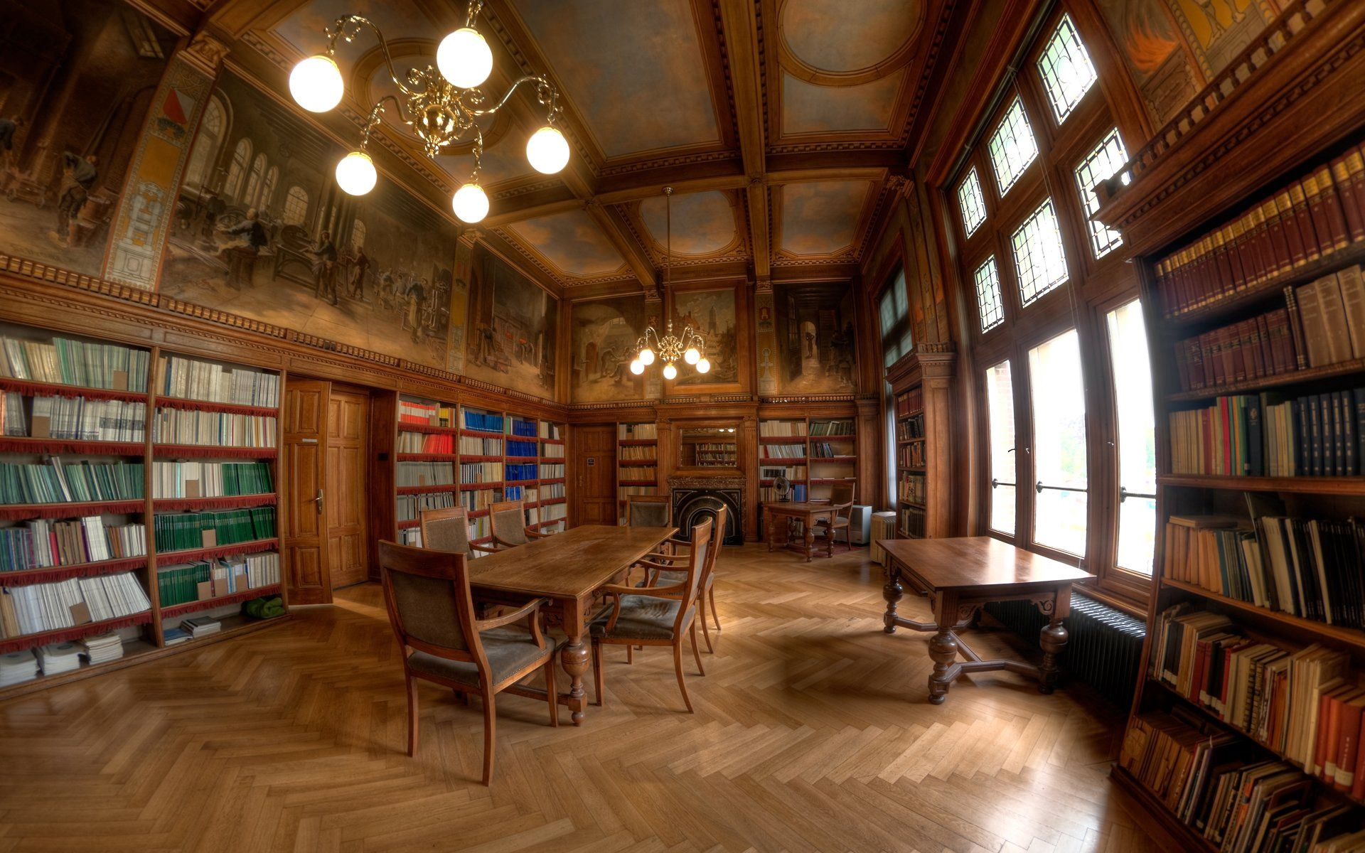 108099 скачать обои Разное, Библиотека, Стиль, Стол, Книги, Деревянный - заставки и картинки бесплатно