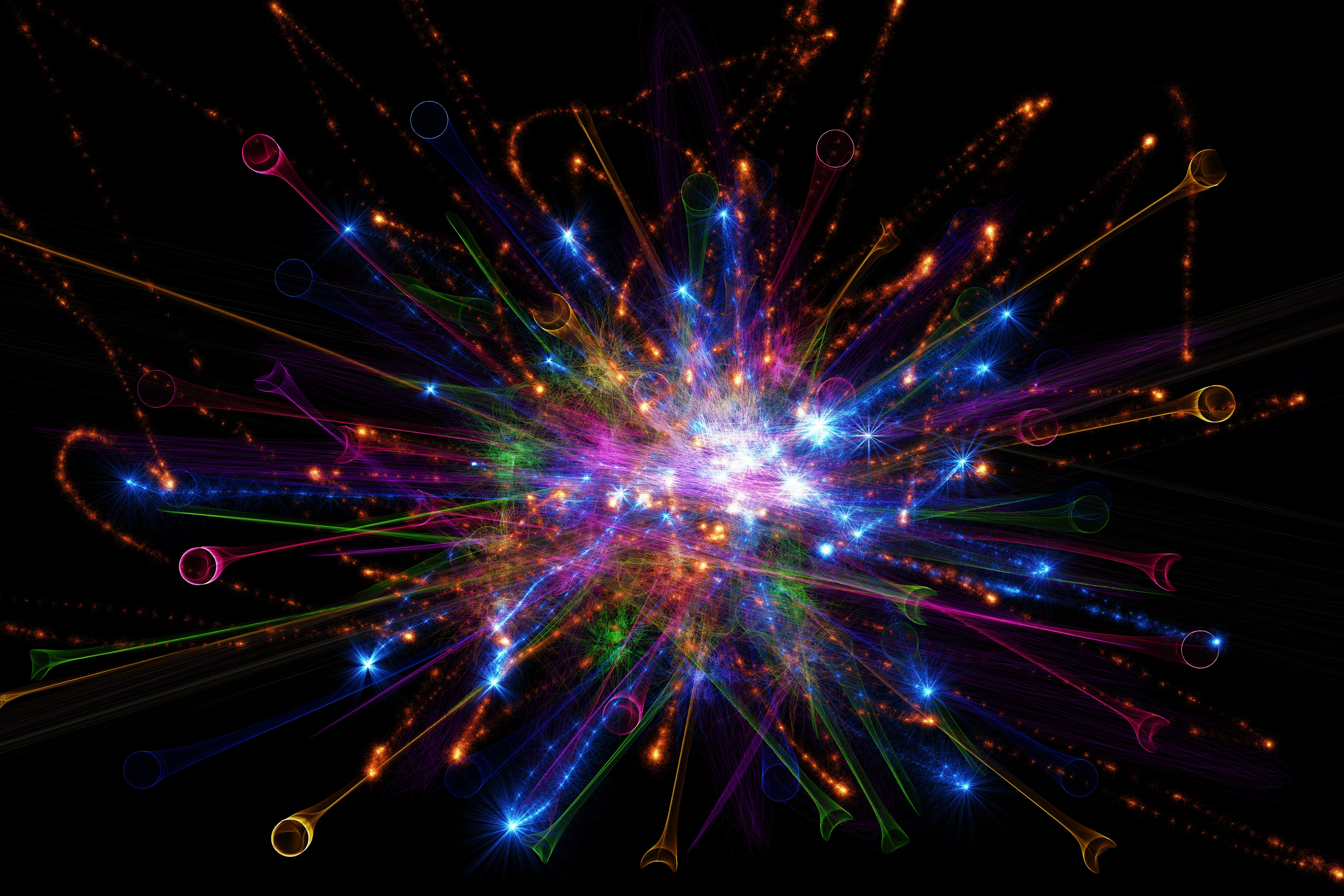 93463 download wallpaper Shine, Brilliance, Abstract, Sparks, Beams, Rays, Form, Forms screensavers and pictures for free