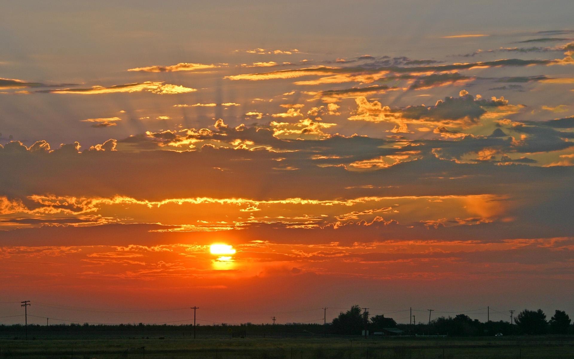 7643 скачать обои Пейзаж, Закат, Небо, Солнце - заставки и картинки бесплатно