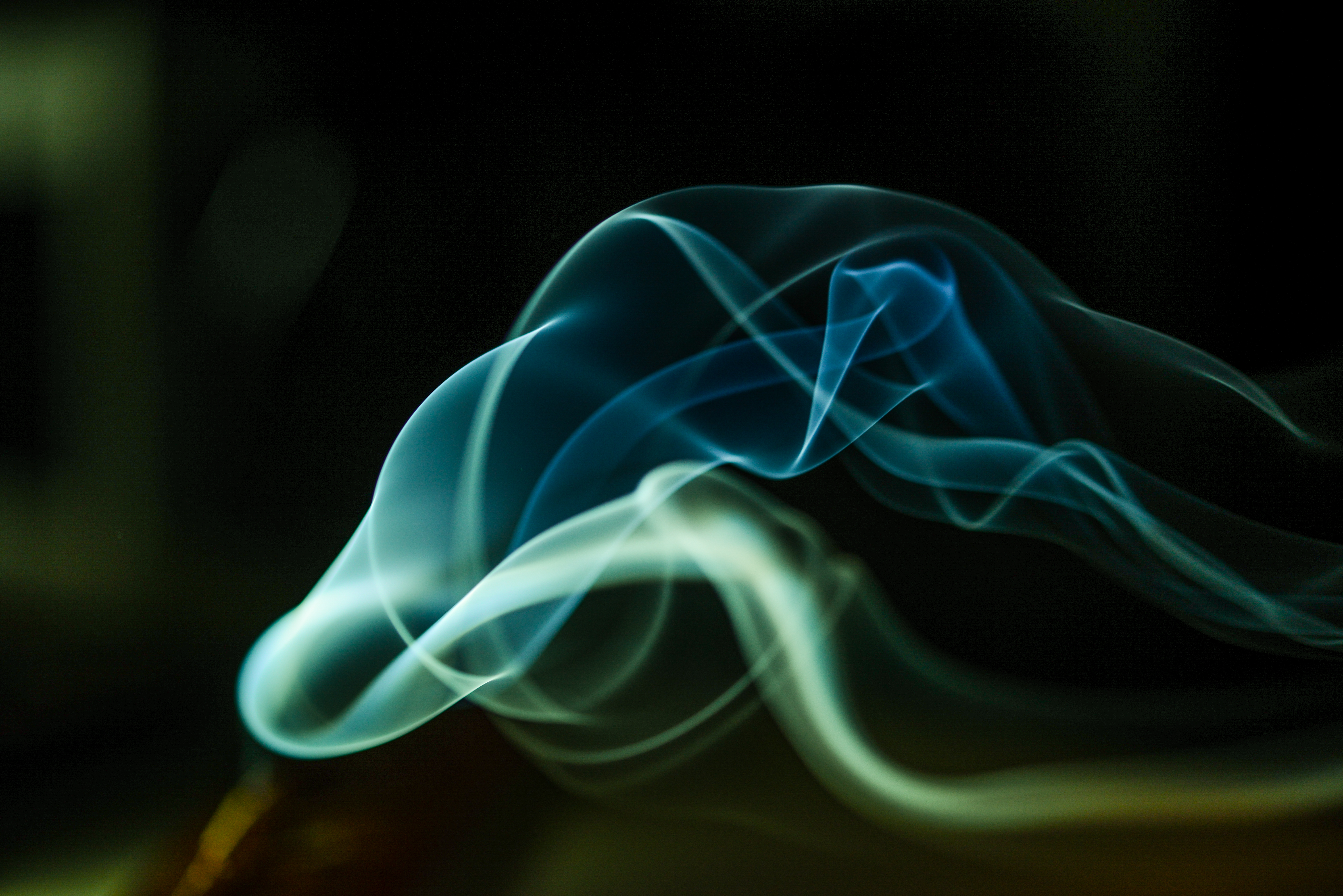 120088 download wallpaper Abstract, Wavy, Black Background, Smoke screensavers and pictures for free