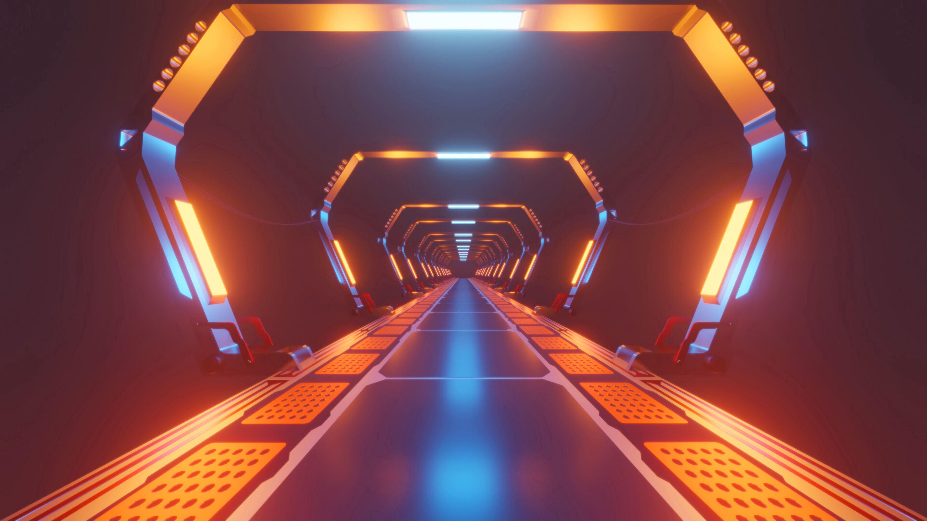 122356 télécharger le fond d'écran Divers, Couloir, Corridor, Néon, Briller, Lumière, Brillant, Tunnel - économiseurs d'écran et images gratuitement