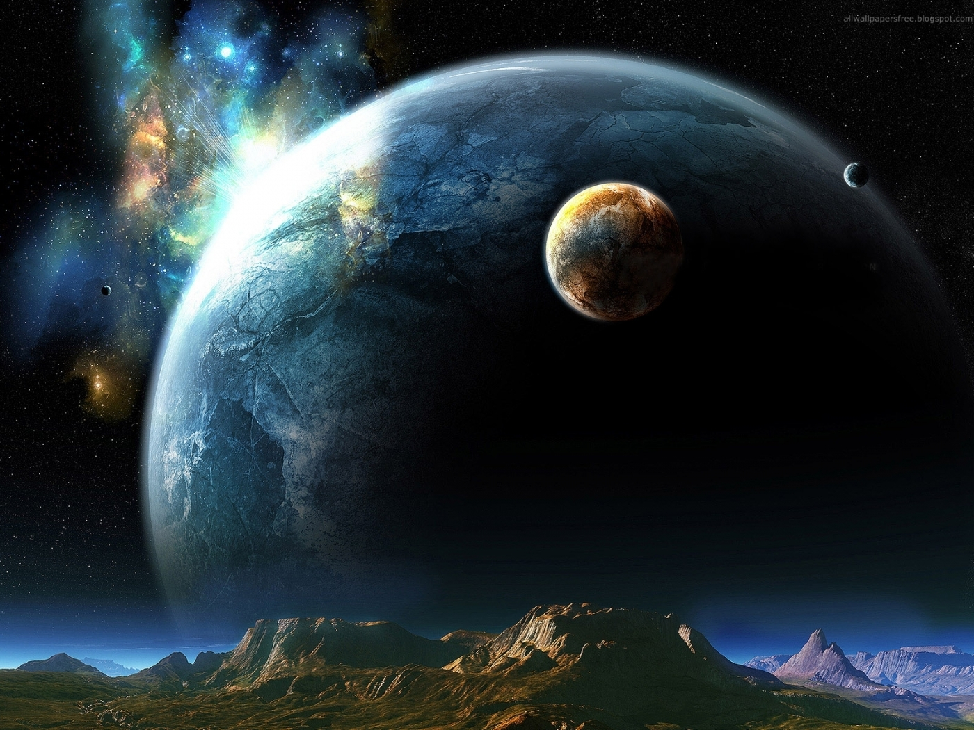 47010 download wallpaper Landscape, Planets, Universe screensavers and pictures for free