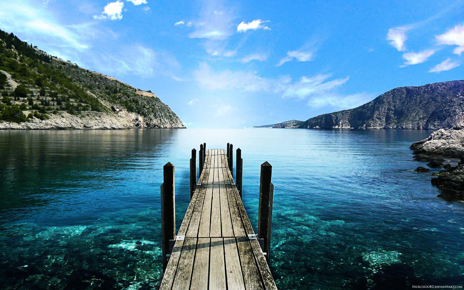 20750 скачать обои Пейзаж, Небо, Горы, Море - заставки и картинки бесплатно